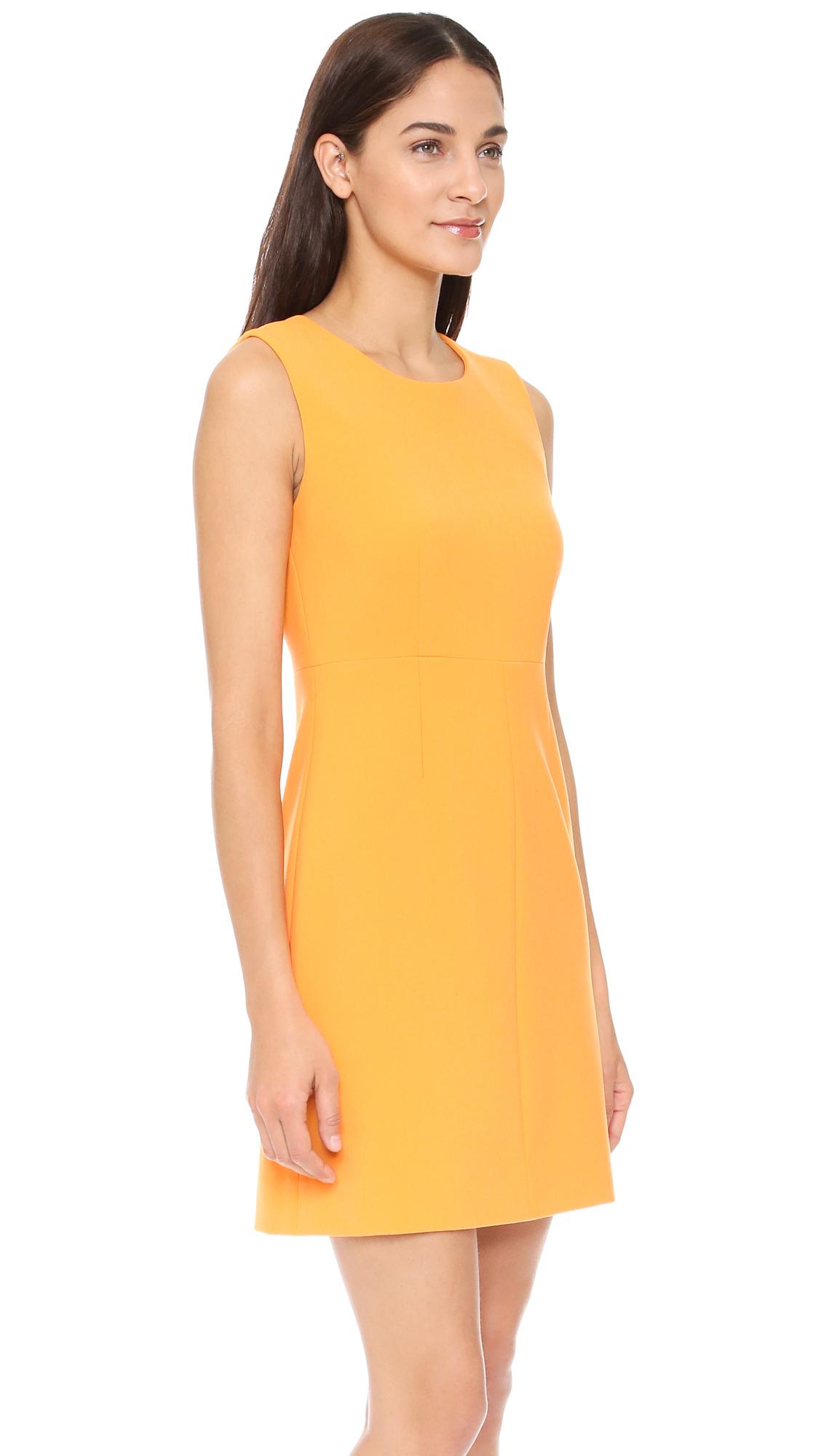 Diane Von Furstenberg Synthetic Carrie Dress In Saffron