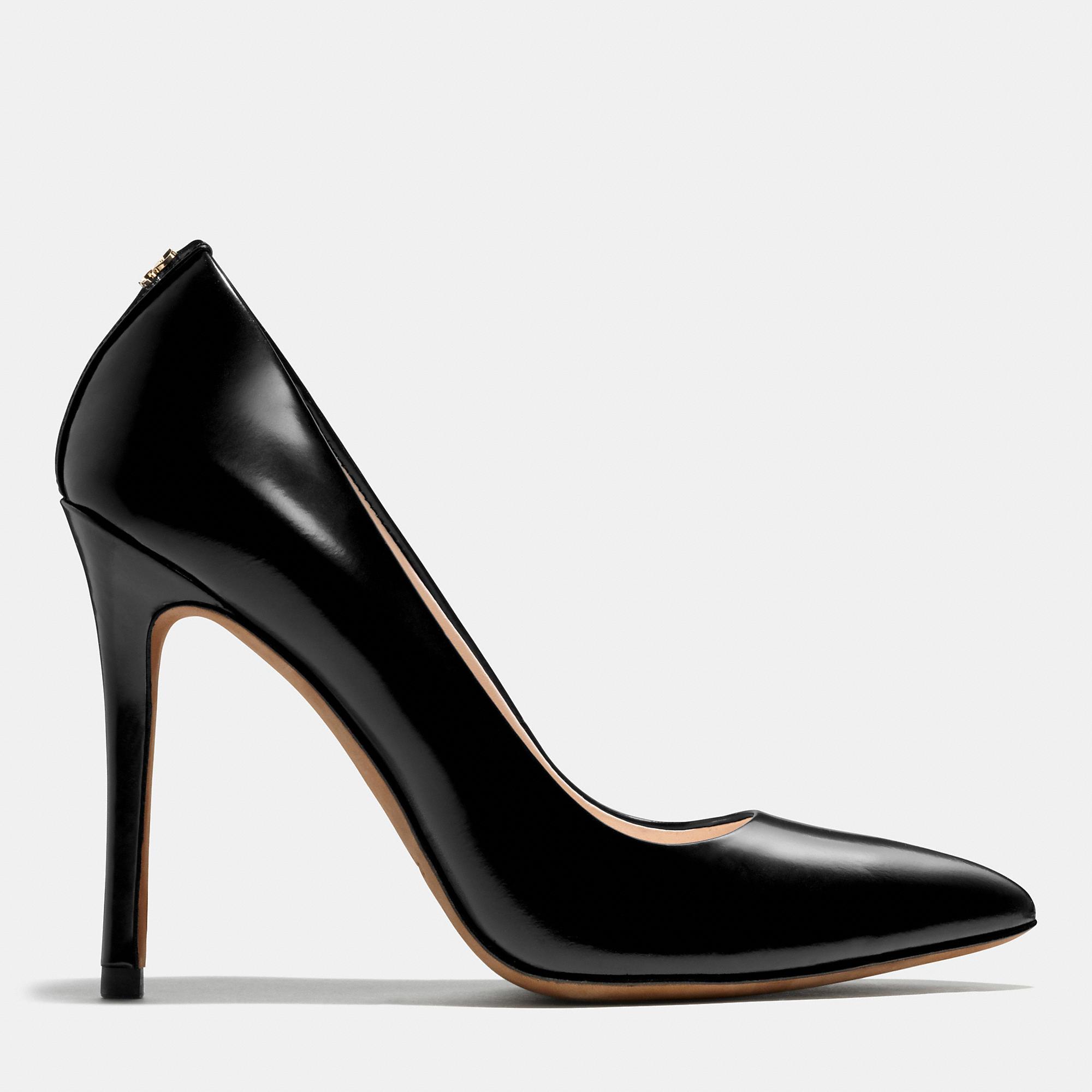2a56fd8cbe9 Lyst - COACH Harlee Heel in Black