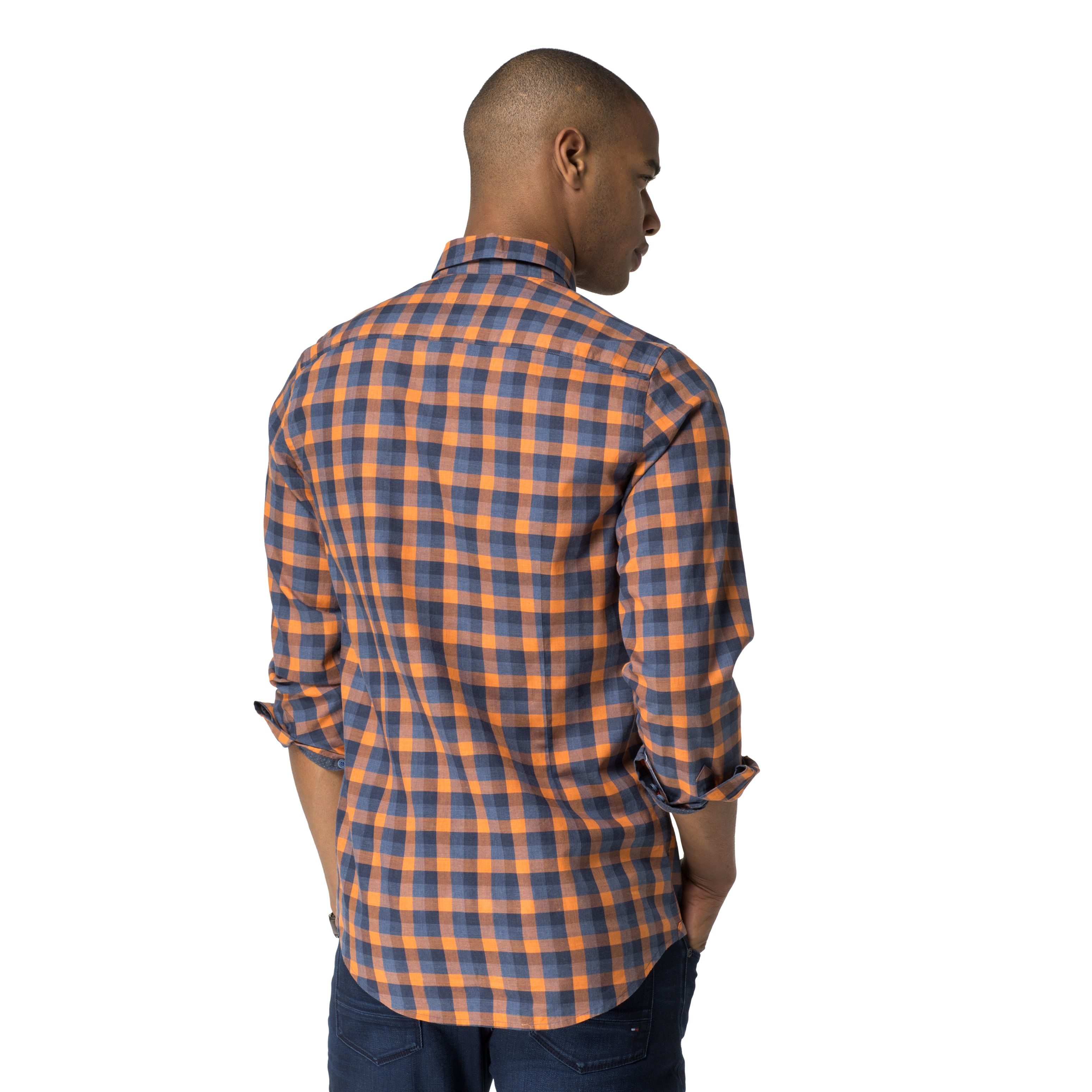 Tommy Hilfiger Check Classic Fit Long Sleeve Button Down