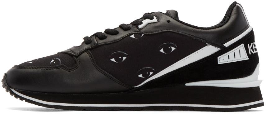 KENZO Black Eye Print Sneakers for Men