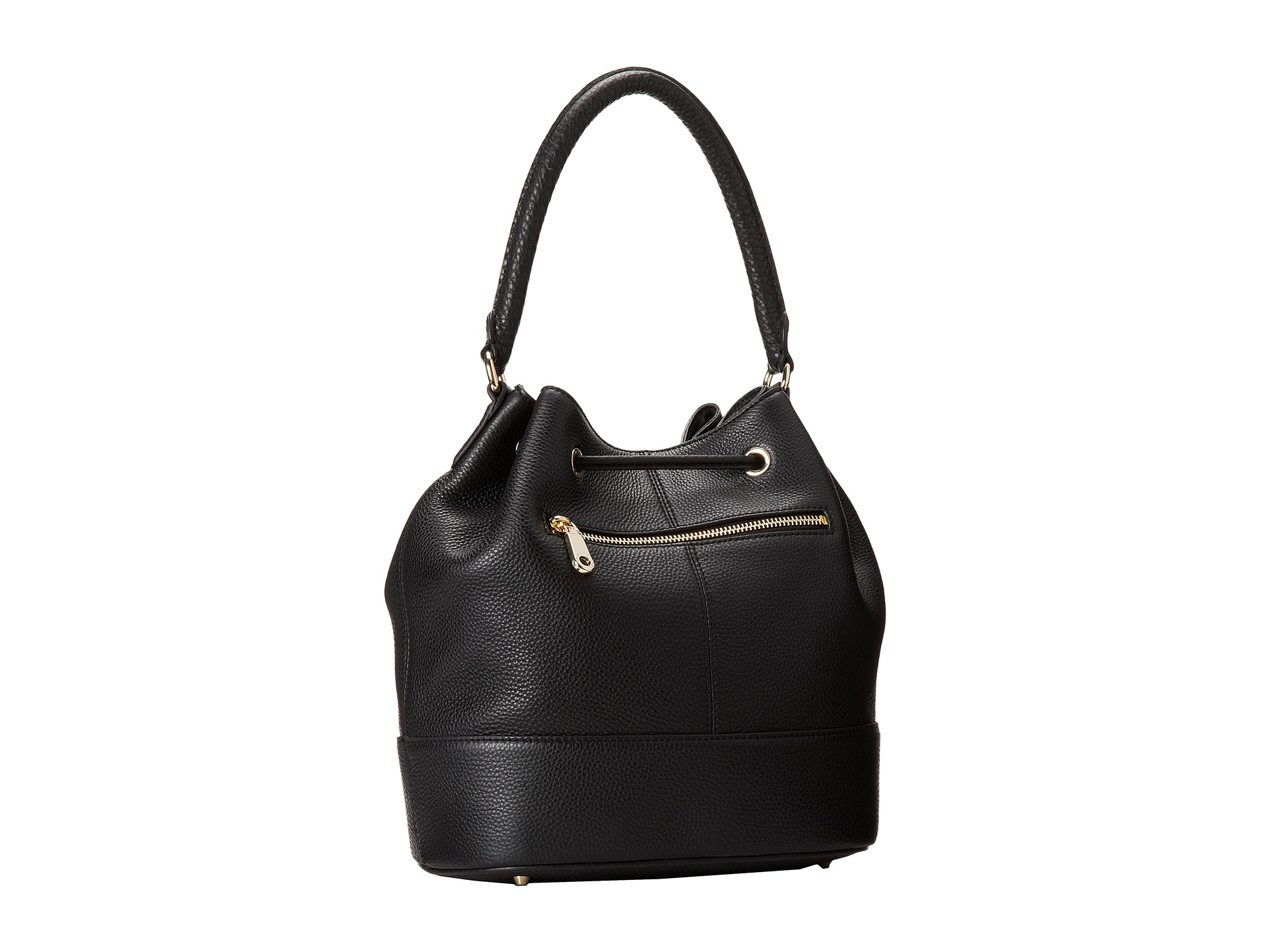 f407f7d31e7a Lyst - DKNY Tribeca - Soft Tumbled Bucket W  Drawstring And Det ...