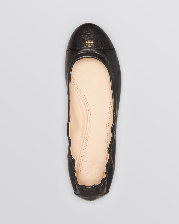 14f2eaeaee0a Lyst - Tory Burch Cap Toe Ballet Flats - York in Brown