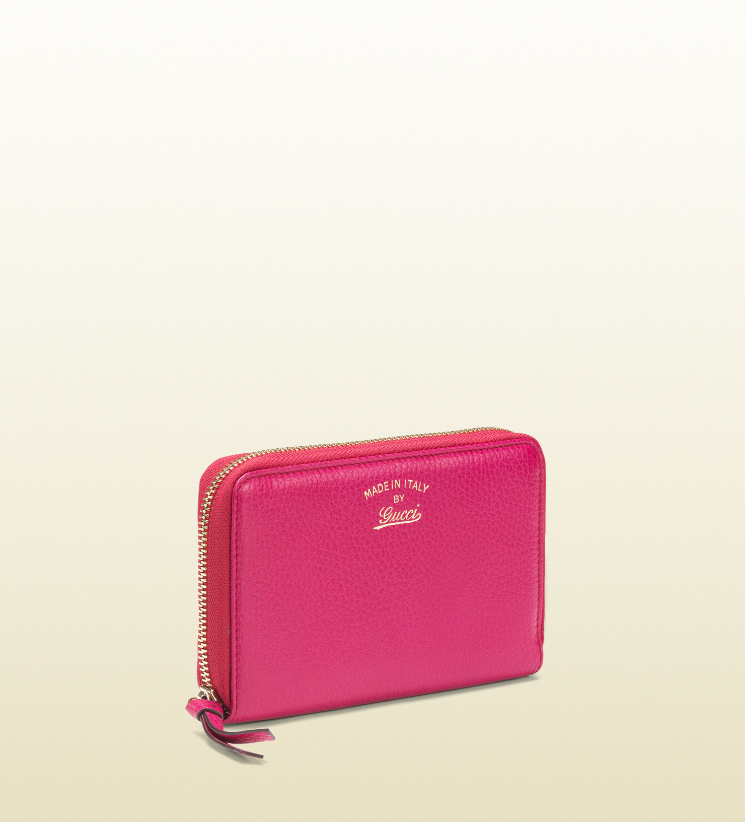 1b5f8827f4d4 Lyst - Gucci Swing Leather Zip Around Wallet in Pink