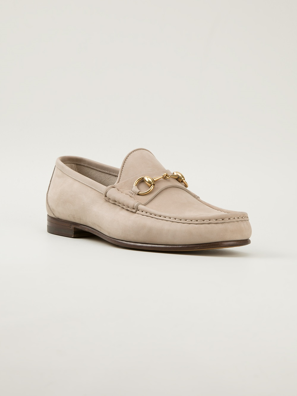 Lyst - Gucci Driving Loafers in Natural for Men