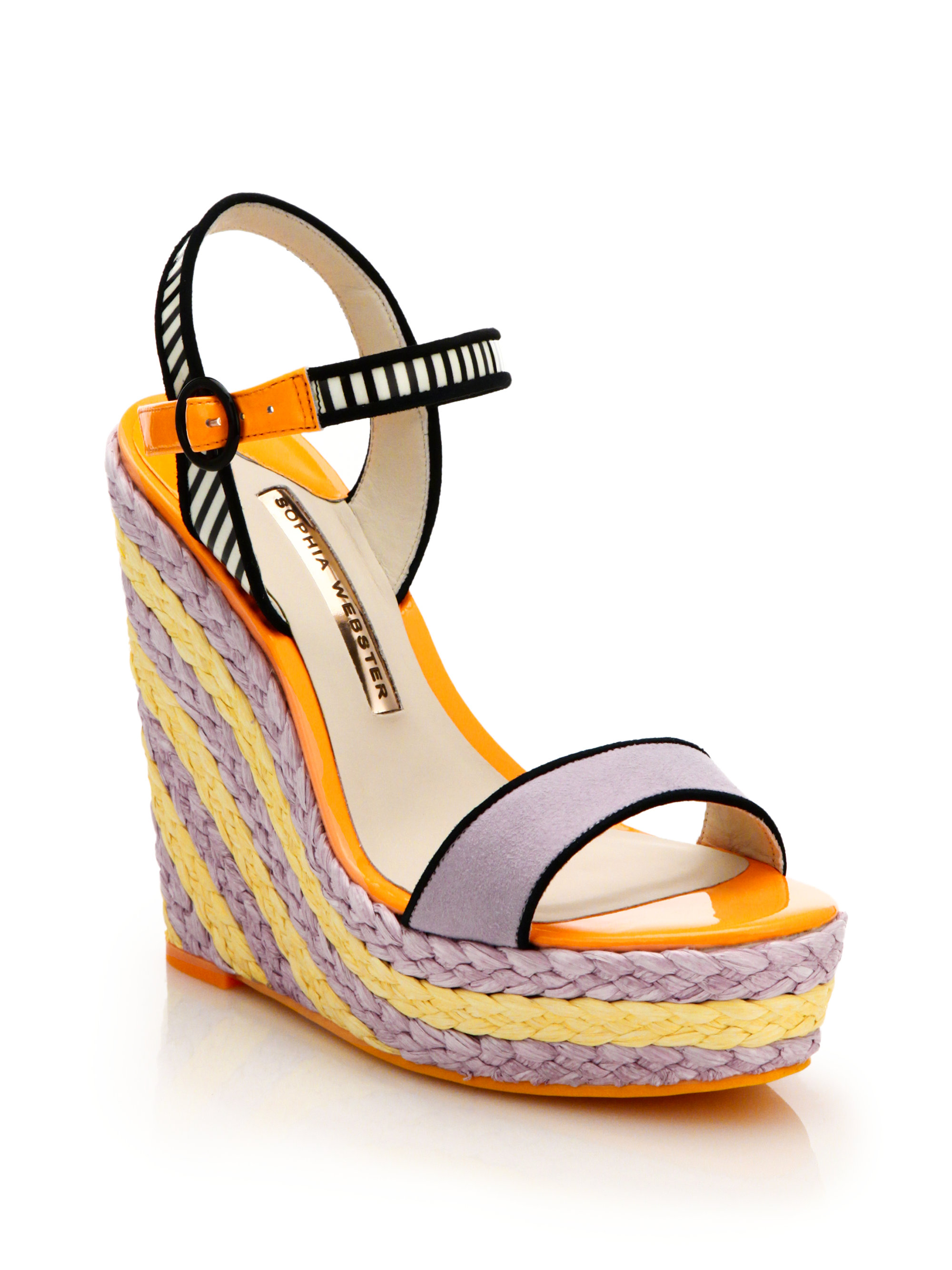 Lyst Sophia Webster Lucita Striped Espadrille Wedge Sandals