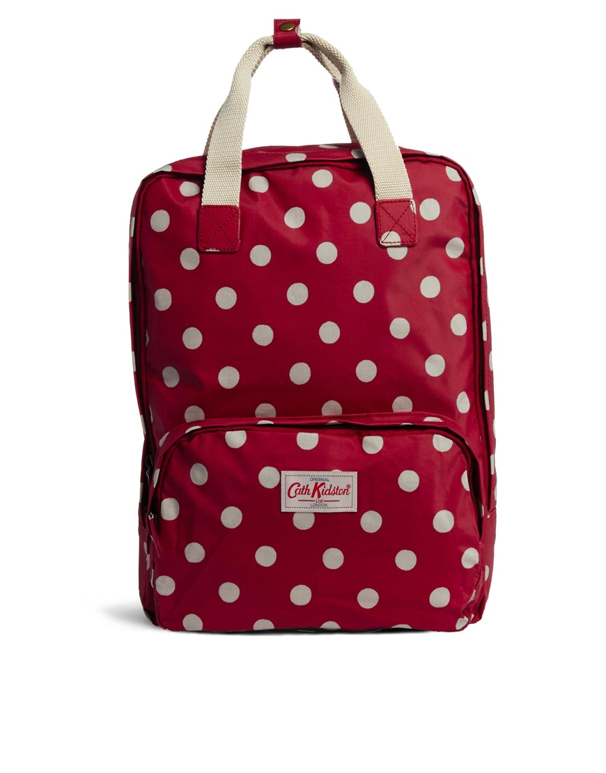 cath kidston button spot backpack in white cranberry lyst. Black Bedroom Furniture Sets. Home Design Ideas