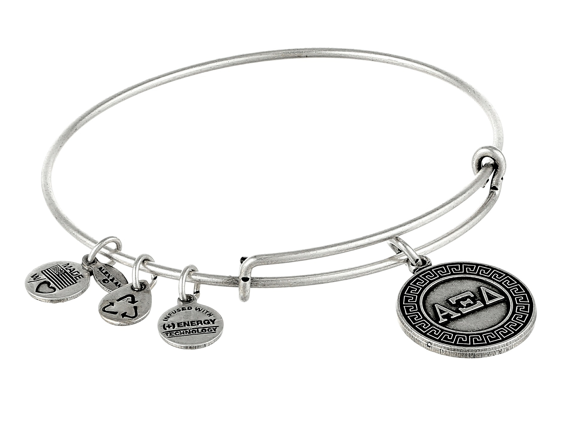Lyst Alex And Ani Alpha Xi Delta Charm Bangle In Metallic