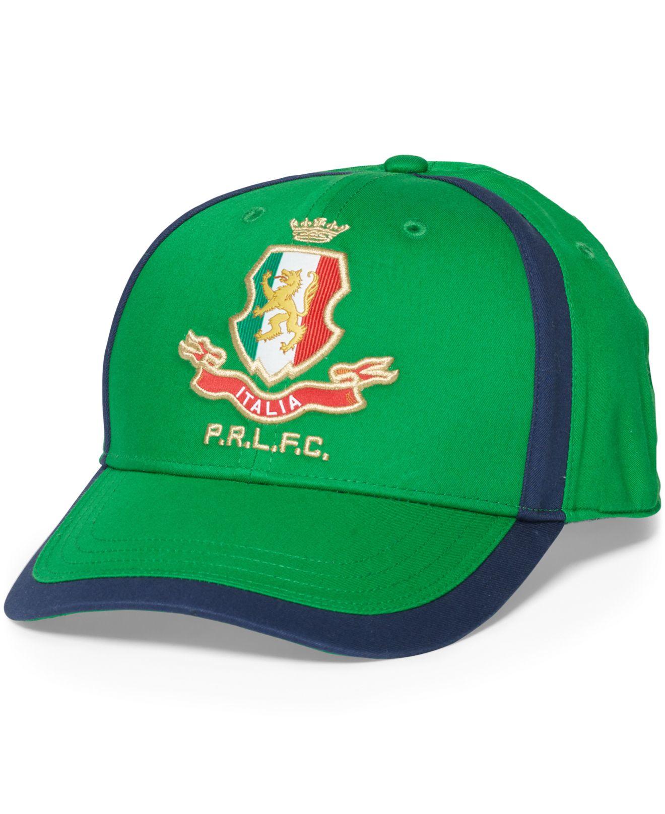 55dbd1b7 Polo Ralph Lauren Polo Sport Italia Baseline Hat in Green for Men - Lyst
