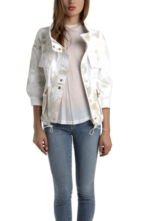 Smythe surplus jacket in white lyst for Smythe inc