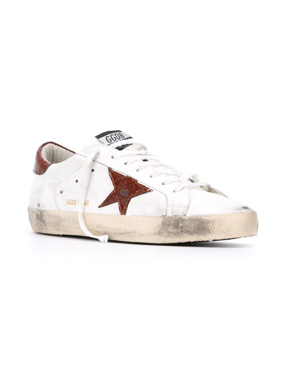 lyst golden goose deluxe brand superstar leather low top sneakers in white for men. Black Bedroom Furniture Sets. Home Design Ideas