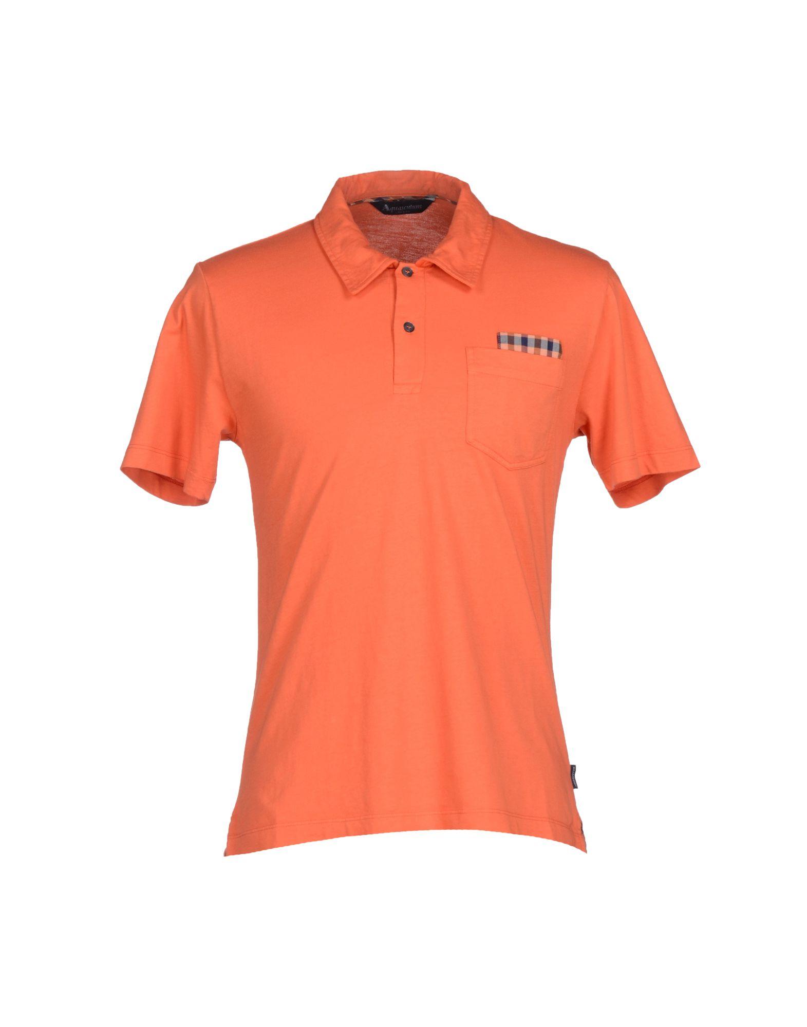 Lyst aquascutum polo shirt in orange for men for Orange polo shirt mens