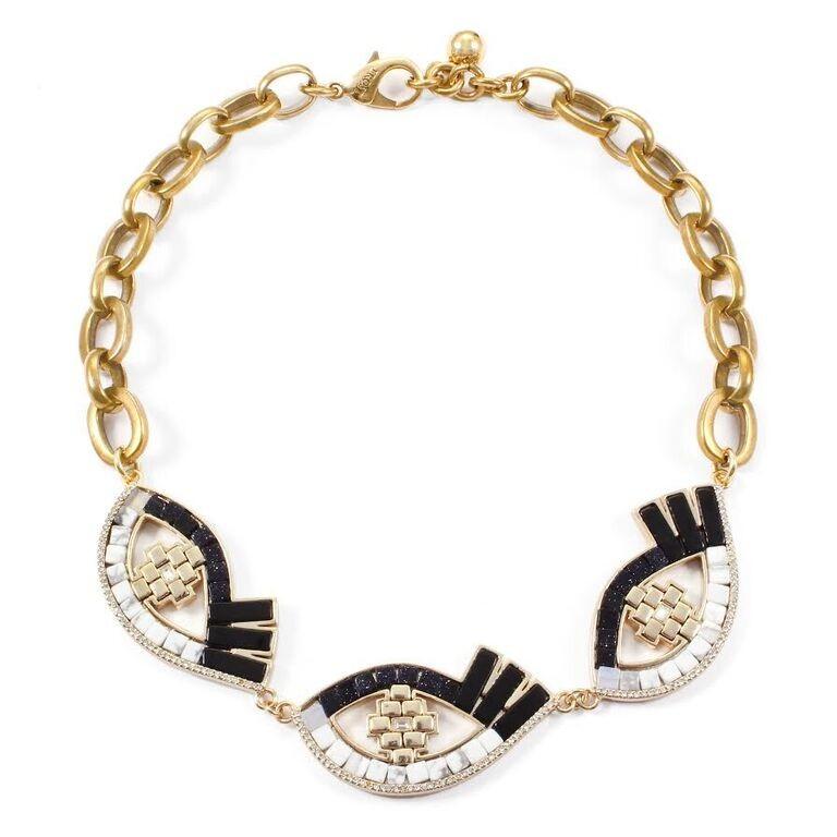 lulu lumen necklace in gold lyst