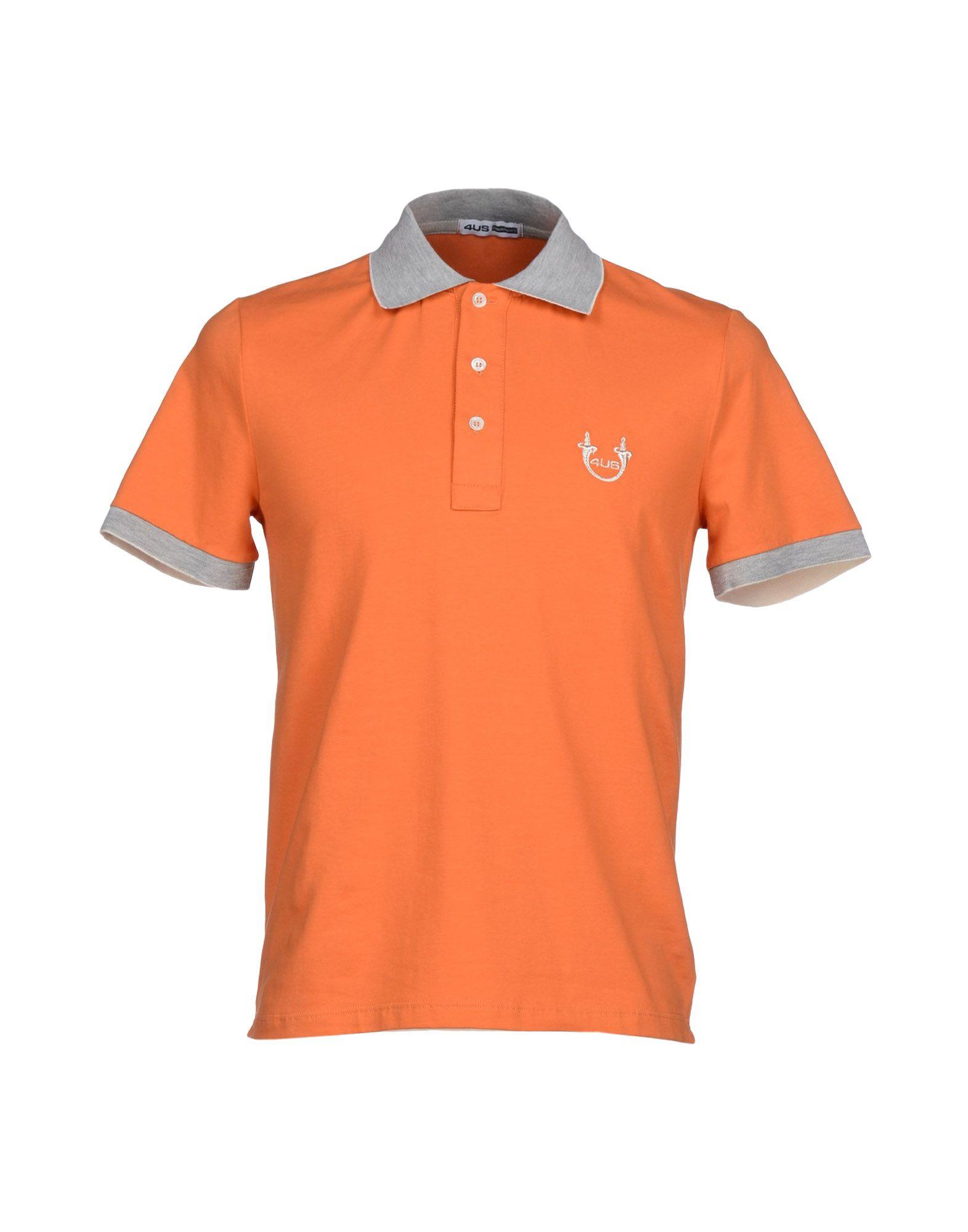 Cesare paciotti polo shirt in orange for men lyst for Orange polo shirt mens