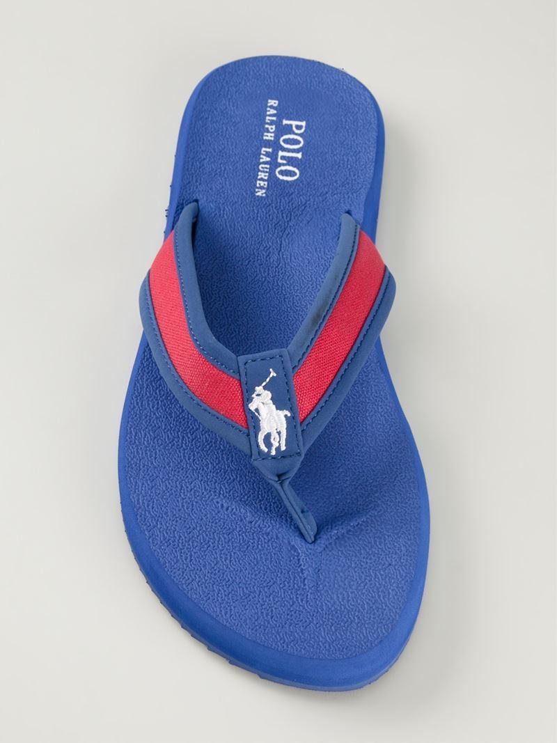 5876aa9e9 Lyst - Polo Ralph Lauren Almer Flip-Flops in Blue for Men