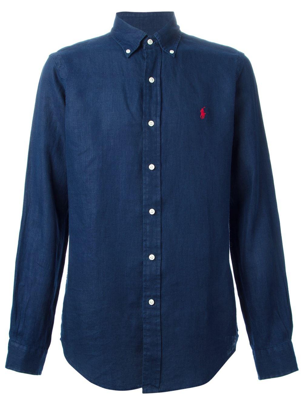 Polo Ralph Lauren Button Down Shirt In Blue For Men Lyst