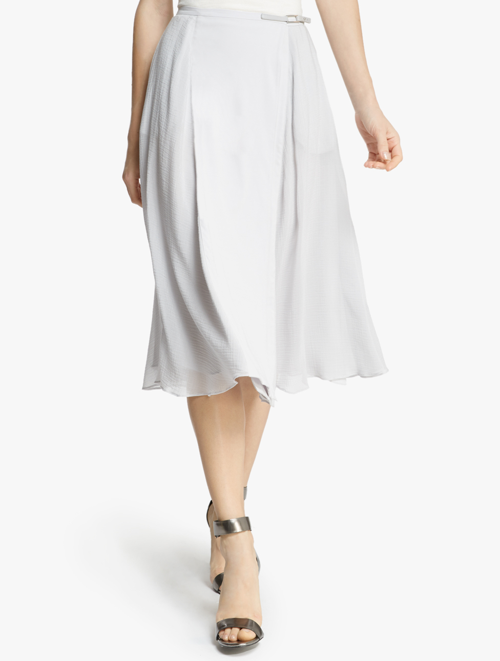 midi flowy skirt in white lyst