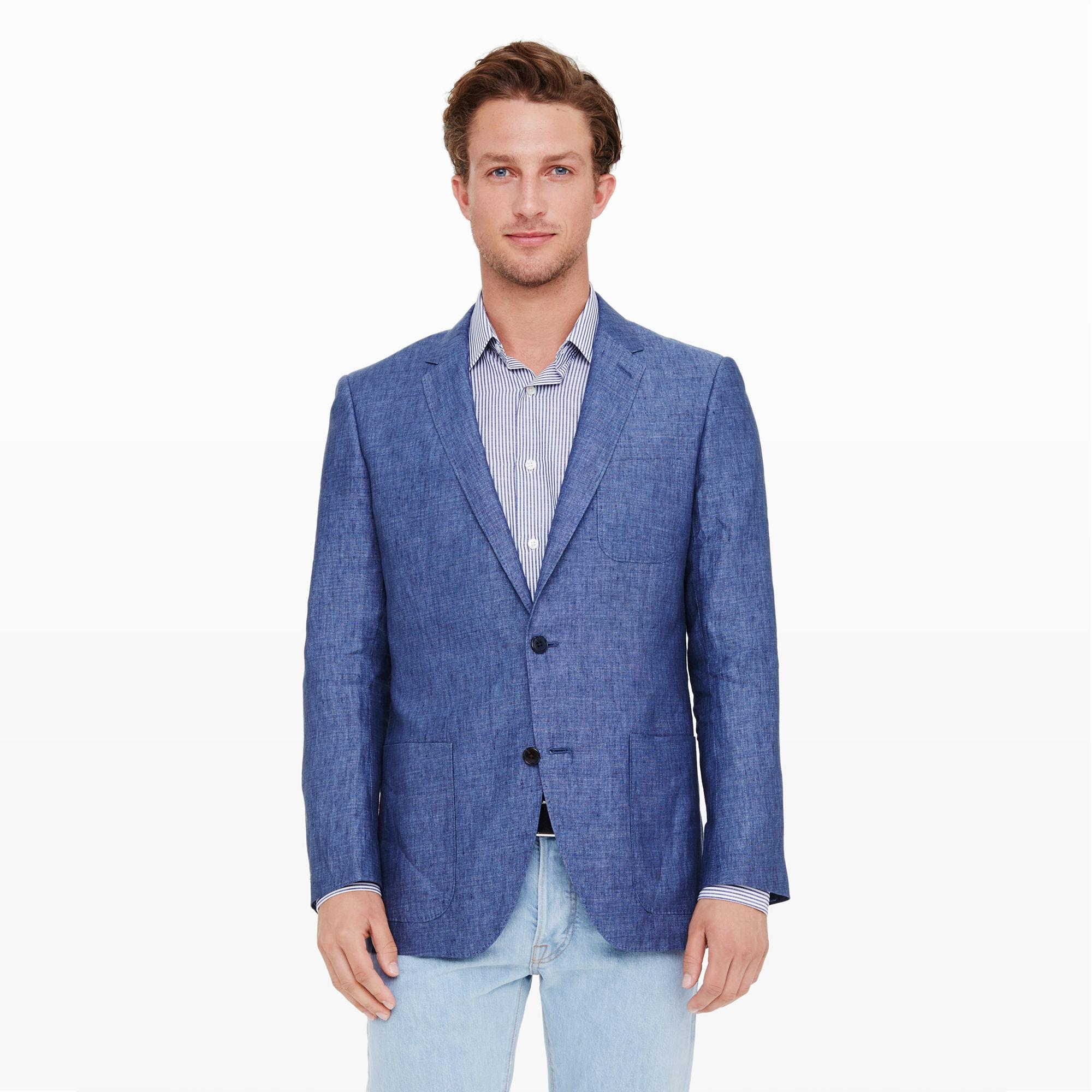 eec8fc5c3337 Club Monaco New Grant Linen Blazer in Blue for Men - Lyst