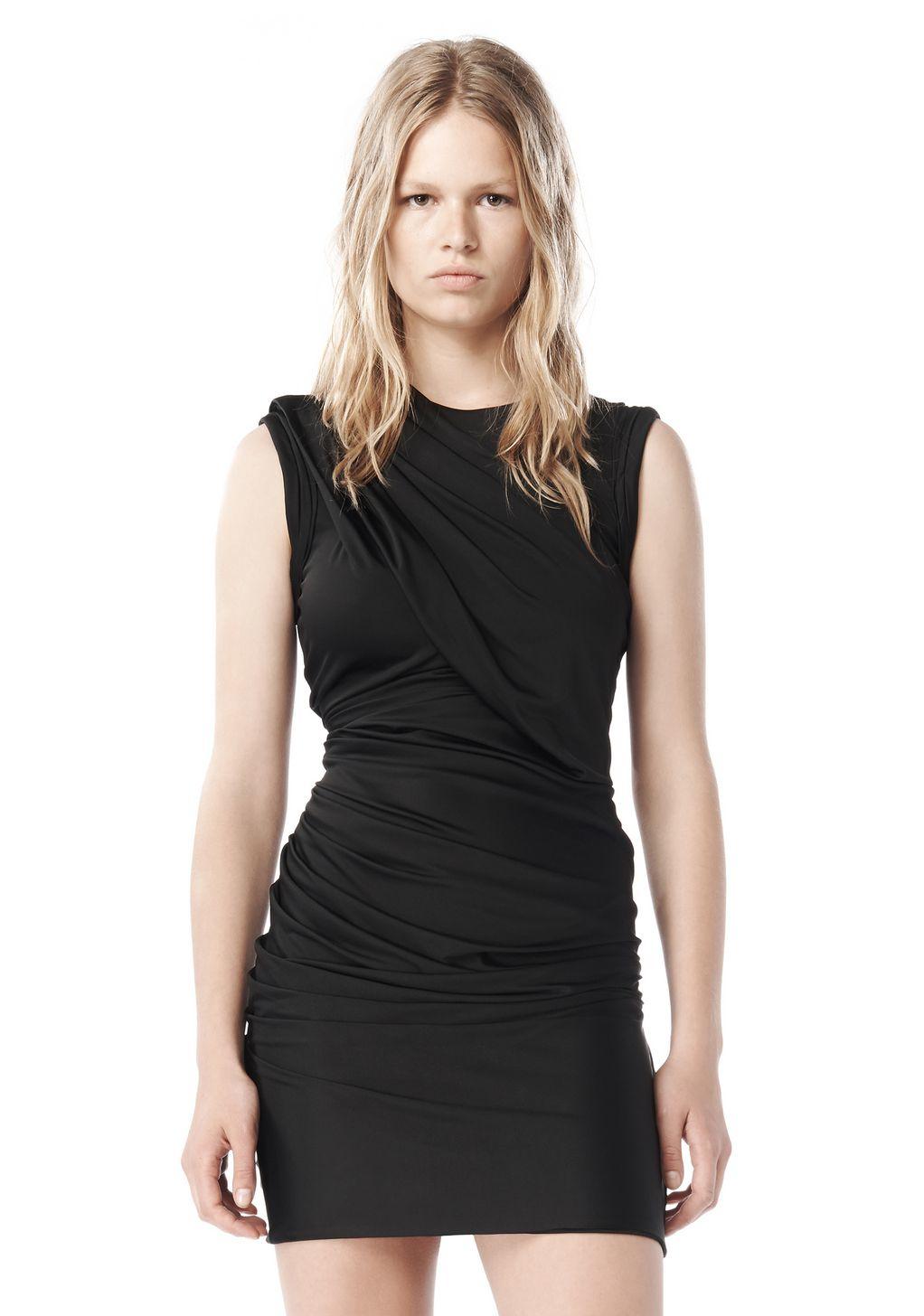 Lyst Alexander Wang Spring 2009 Draped Jersey Dress In Black