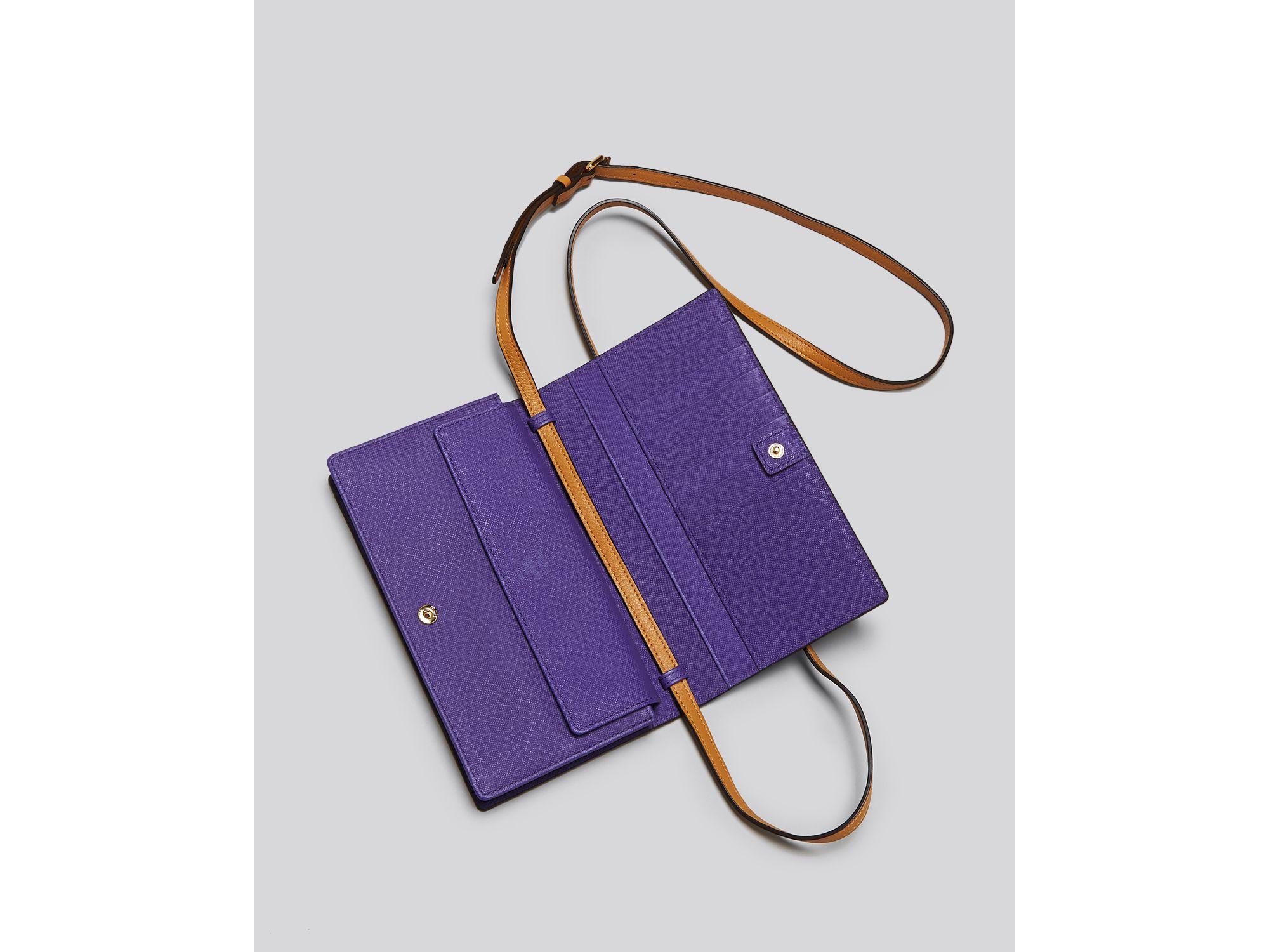 Lyst - Mcm Crossbody - Visetos Colorblock Wallet in Brown