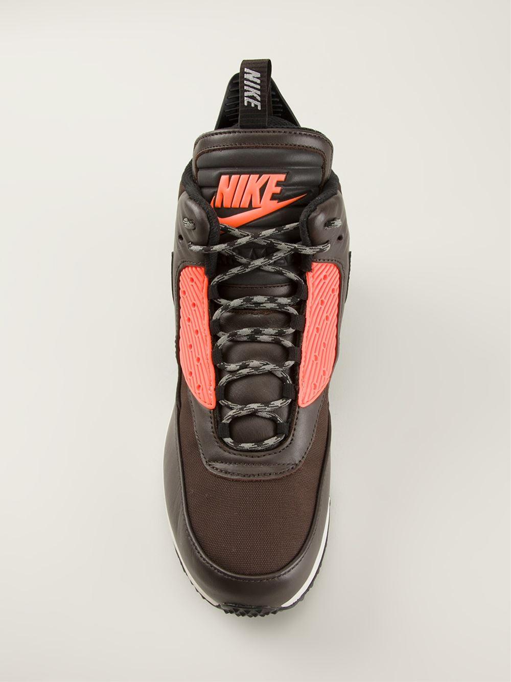 New Nike Air Max 90 Sneakerboot Winter Suede Bronze Brown