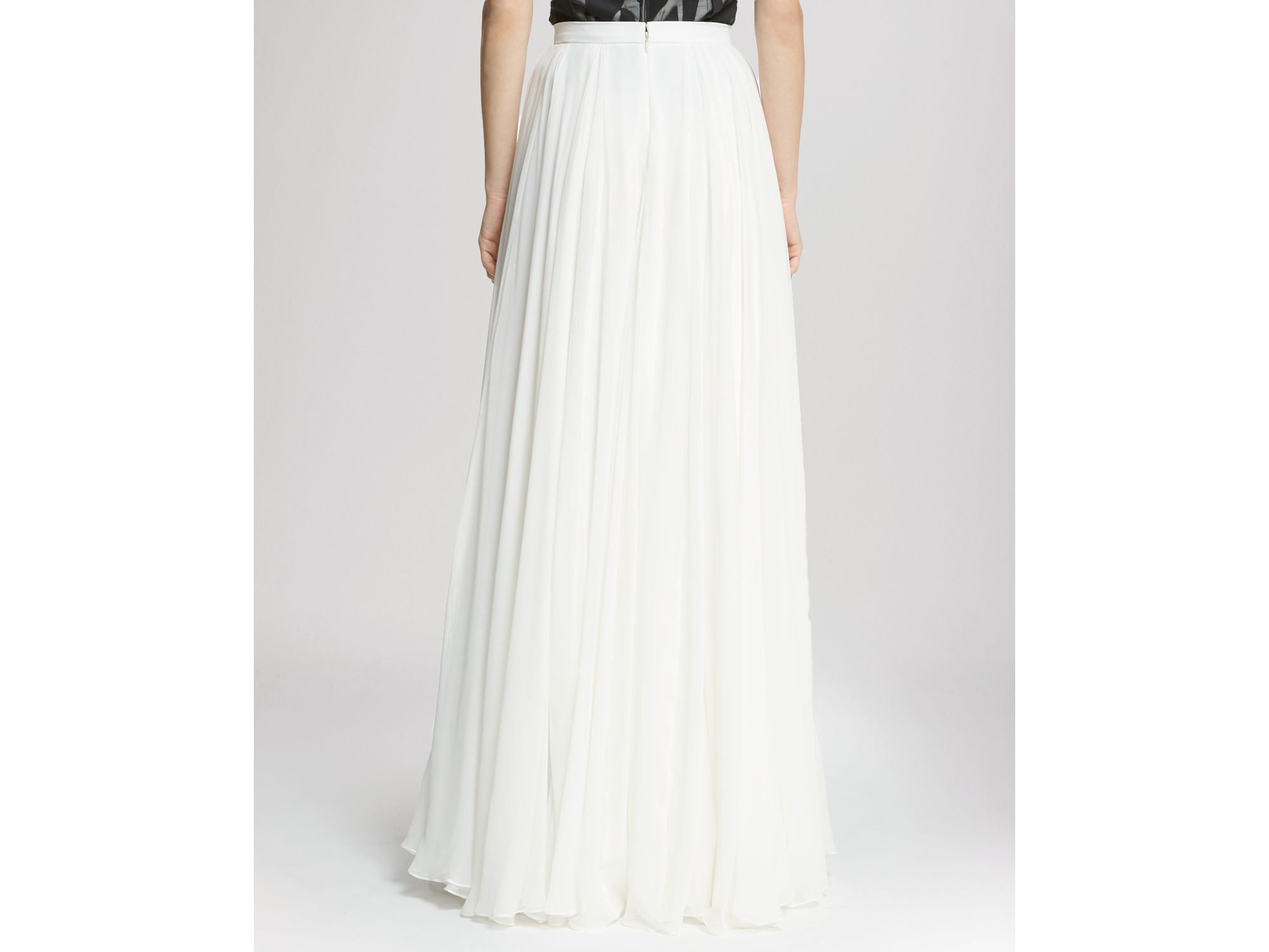 skirt flowing maxi in white lyst