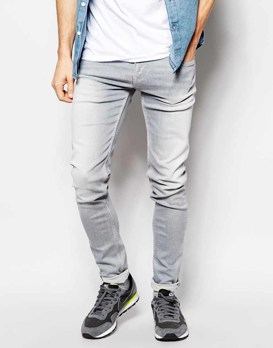 Lyst - Pepe Jeans Finsbury Skinny Fit Ash Gray Stretch in Blue for Men ab3b1e8912