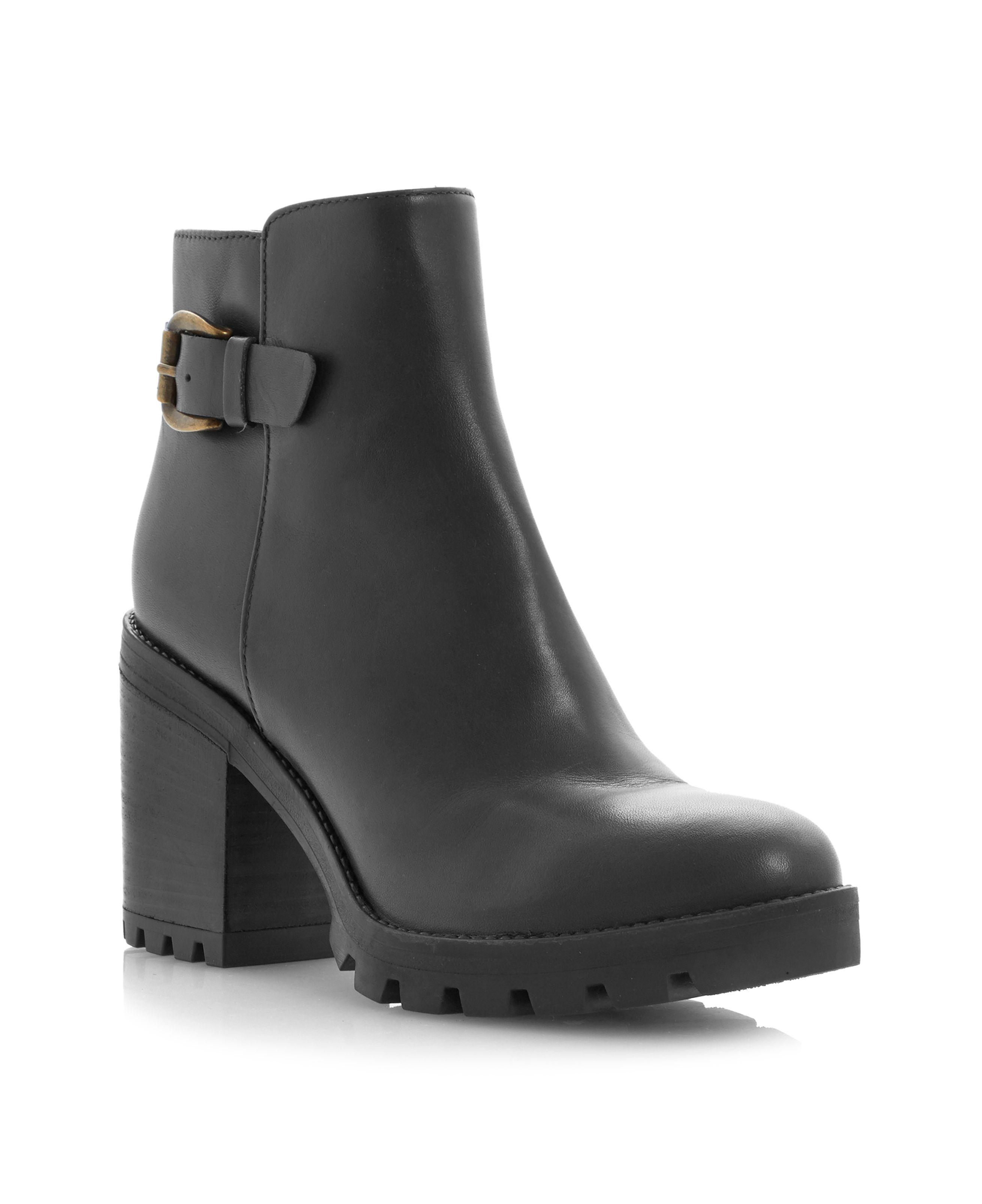dune black playton ankle boot in black lyst