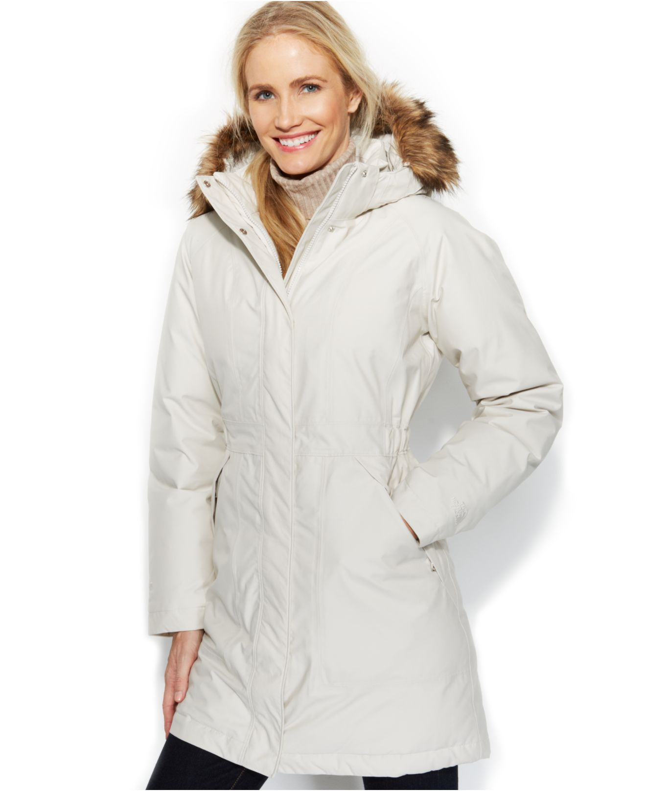 The north face Arctic Down Parka in White | Lyst