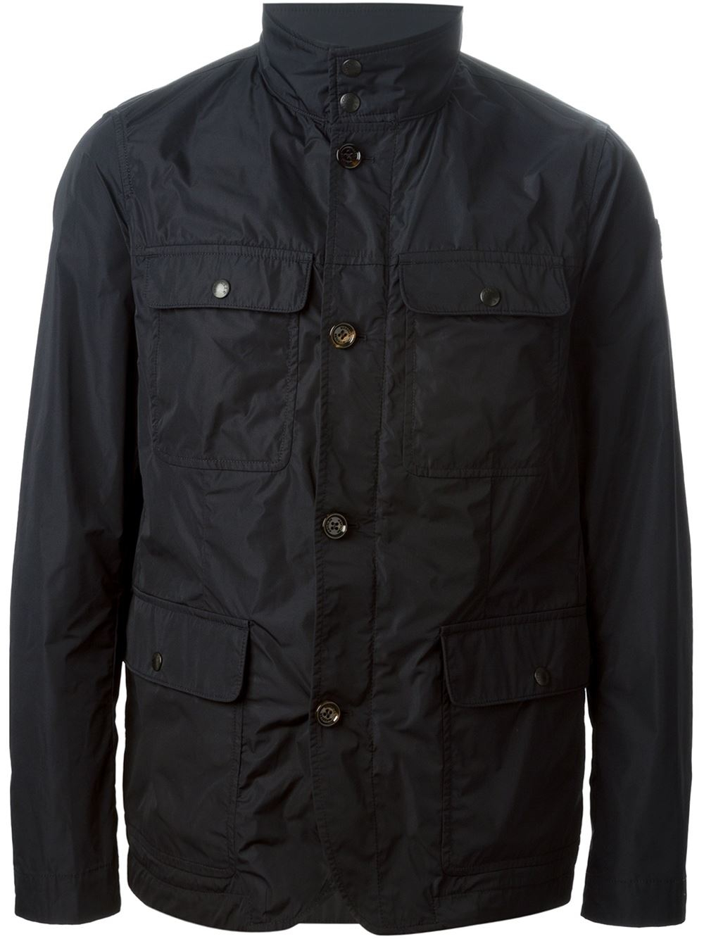 moncler corbin padded jacket in blue for lyst