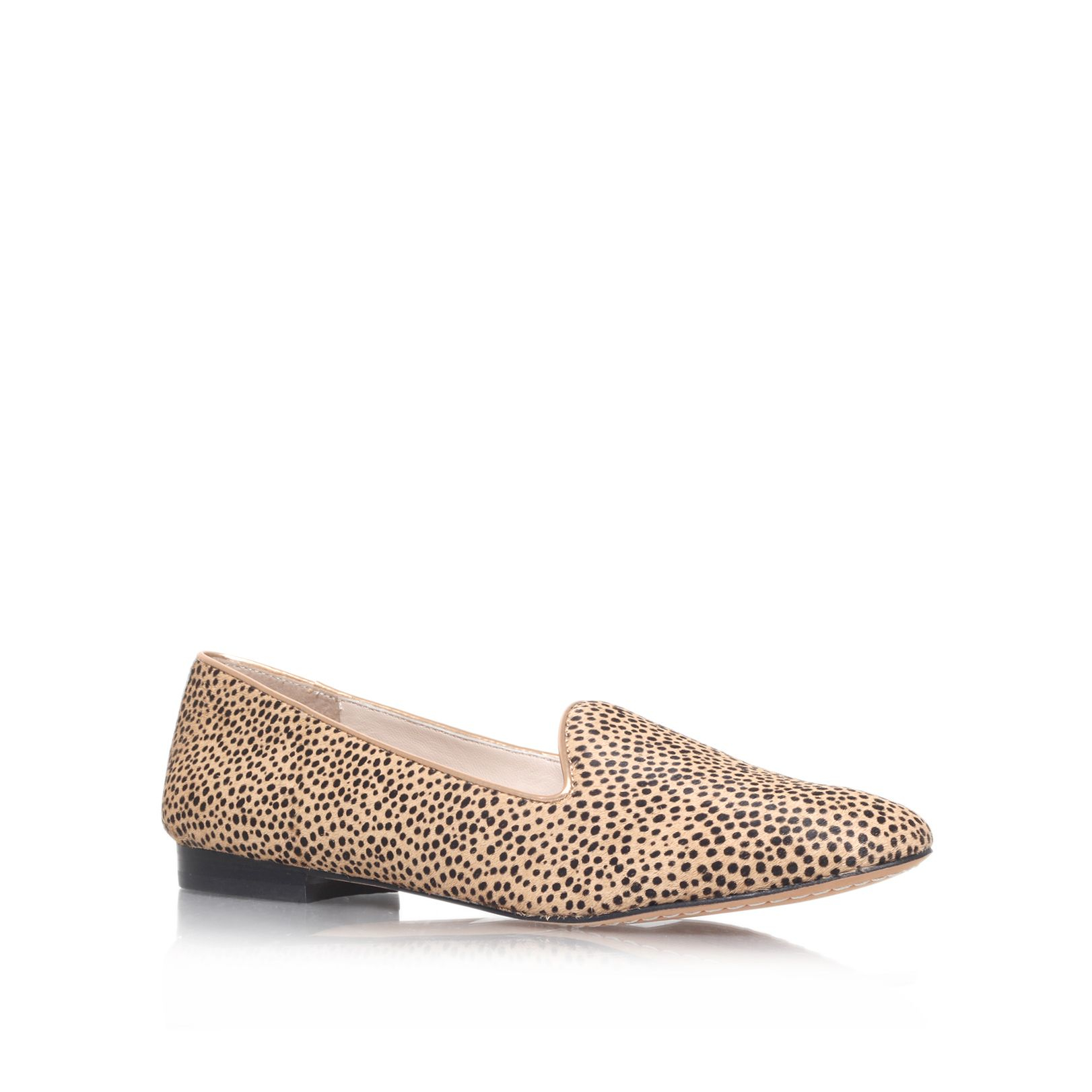 Vince Camuto Edmonton Flat Slipper Shoes In Animal Brown