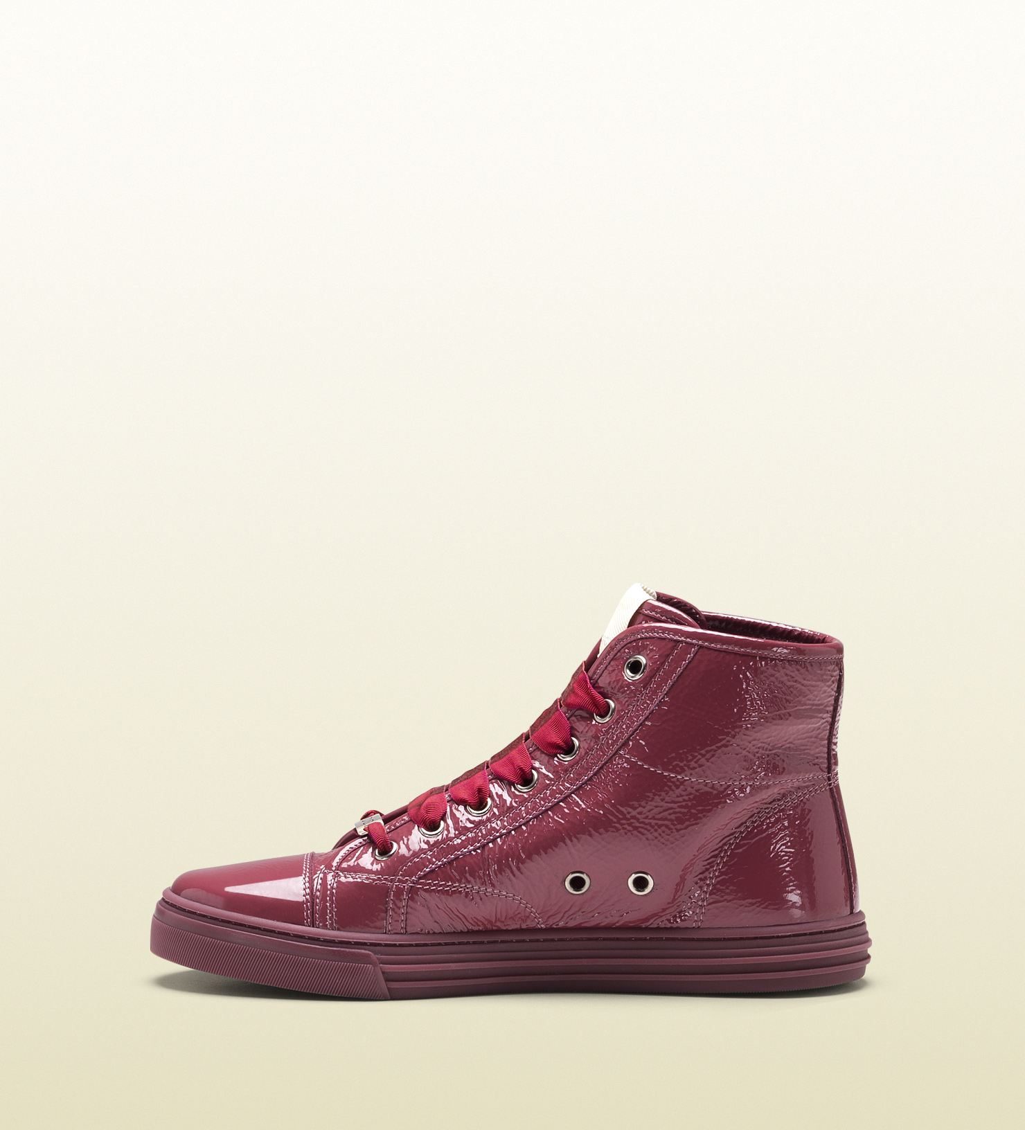 gucci california patent leather hightop sneaker in red for men pink lyst. Black Bedroom Furniture Sets. Home Design Ideas
