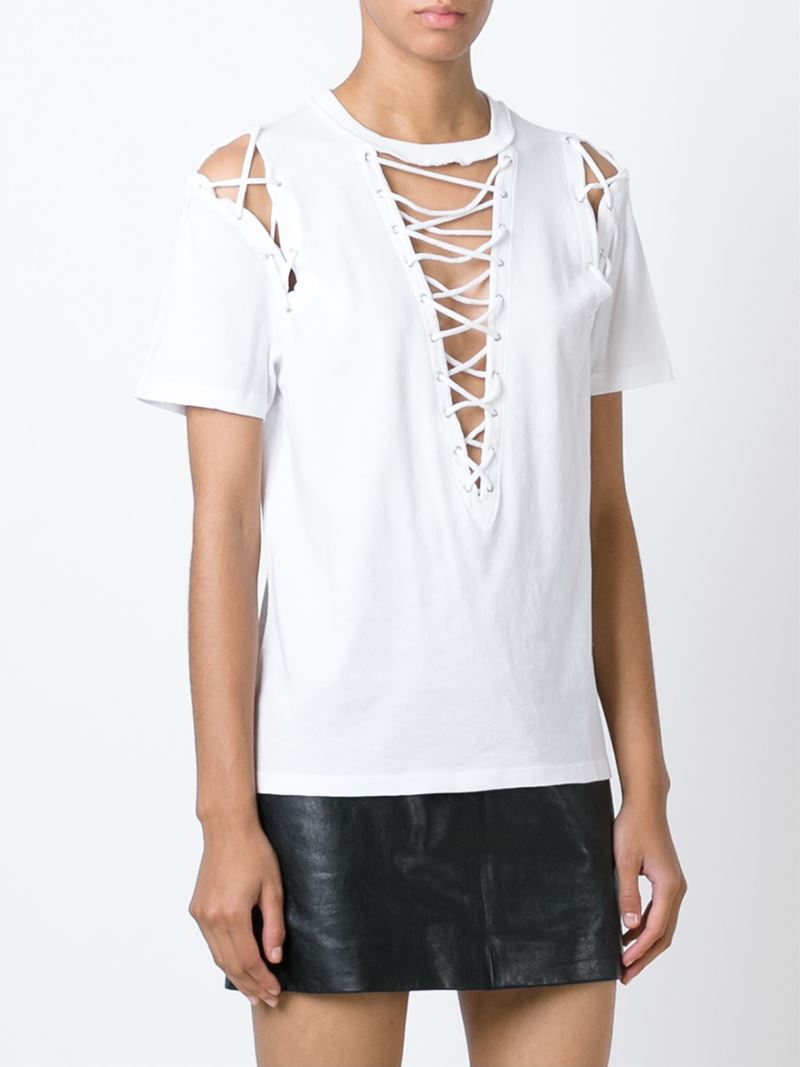 There'll be no need to get tied up in knots over this weekend's outfit, whether you're looking for the perfect top to match your flares or jet setting off on holiday our lace up tops will sort you out.