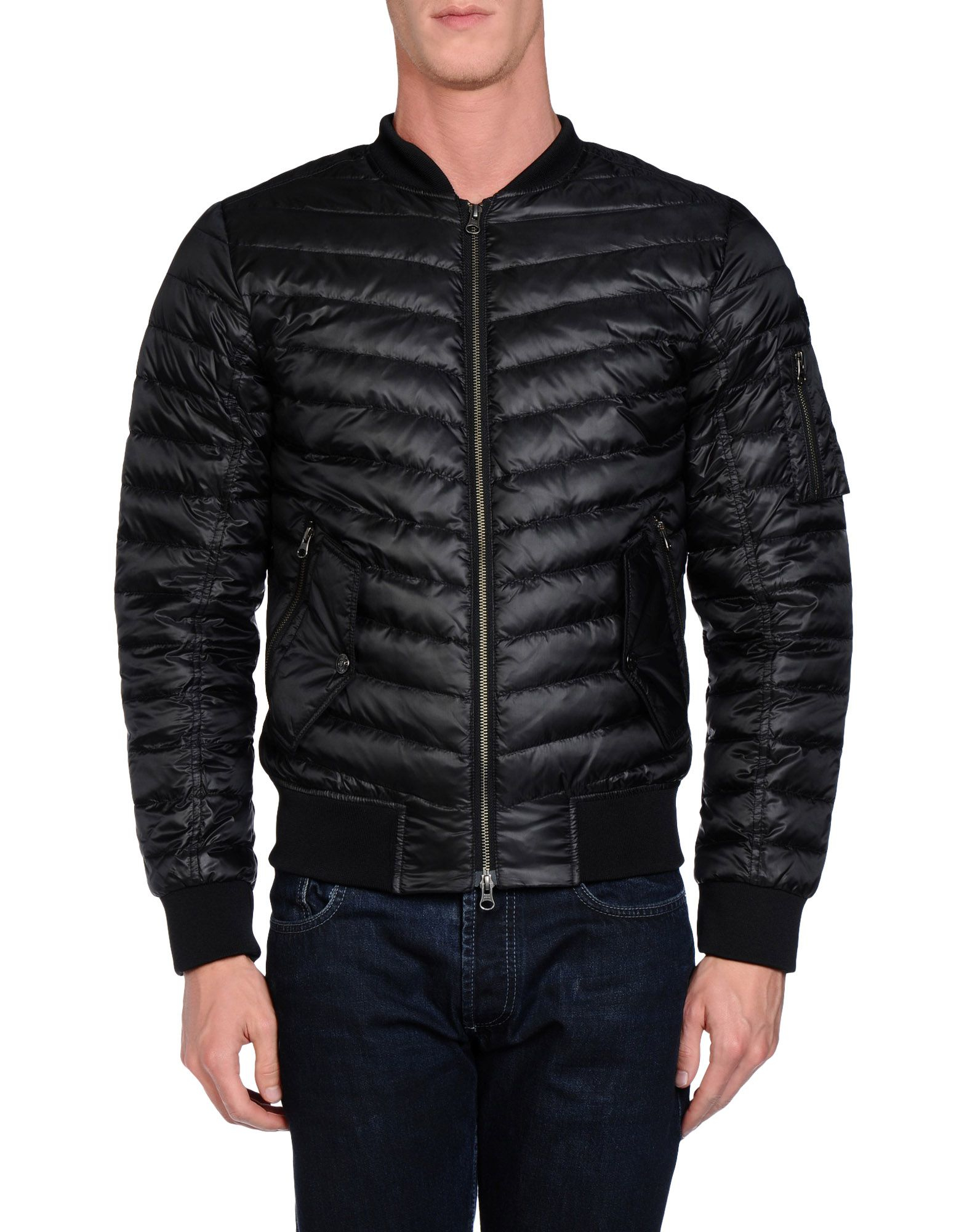 true religion down jacket in black for men lyst. Black Bedroom Furniture Sets. Home Design Ideas