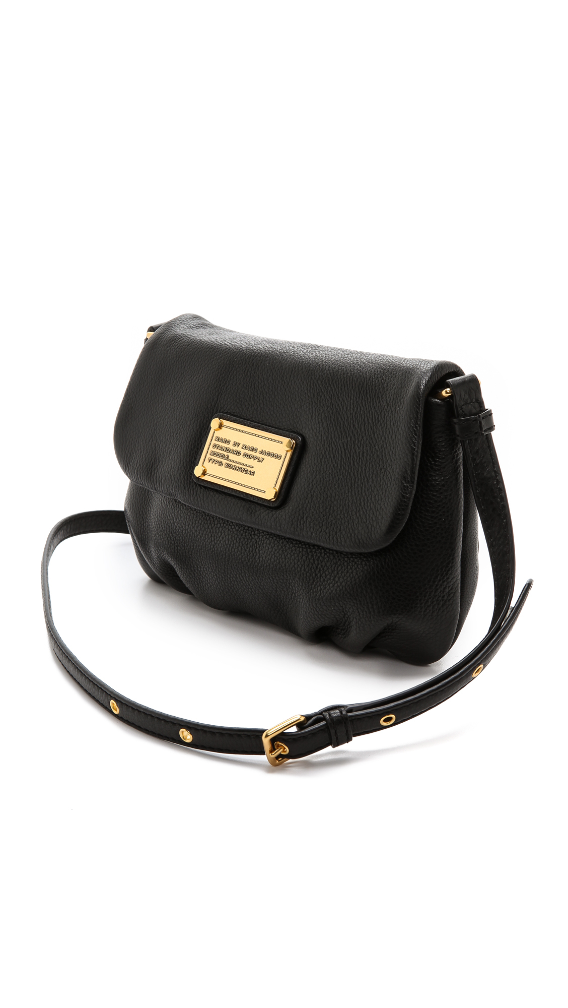f132f9554cb Marc By Marc Jacobs Classic Q Percy Leather Cross-Body Bag in Black ...