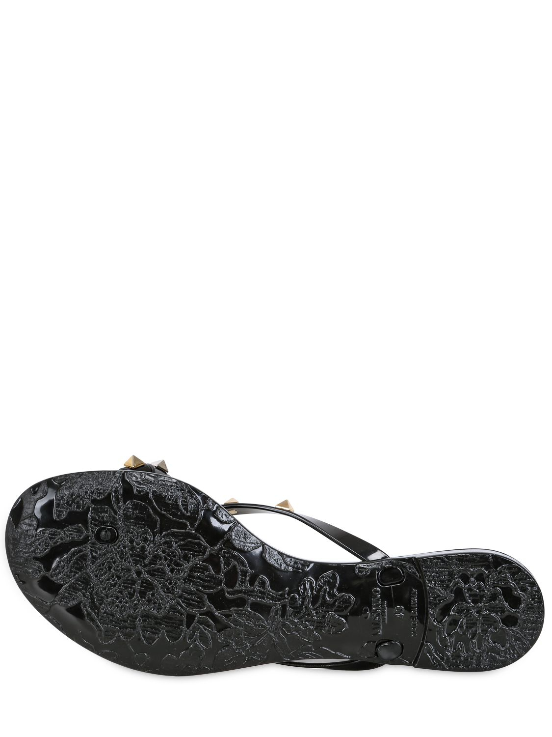 Lyst - Valentino Rubber Studded Flip Flops In Black-6664