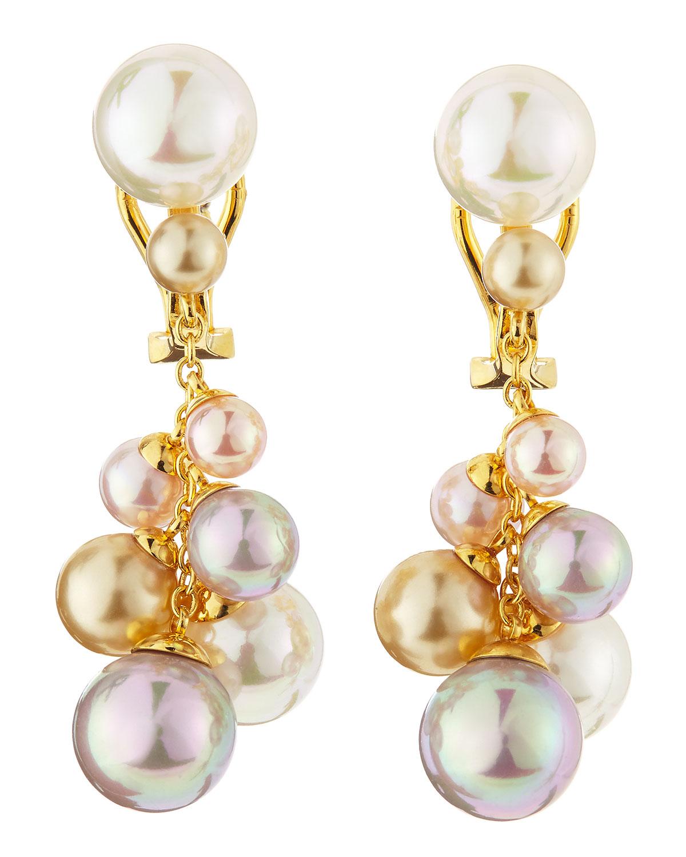 Majorica Clustered Faux Pearl Drop Earrings In White Lyst