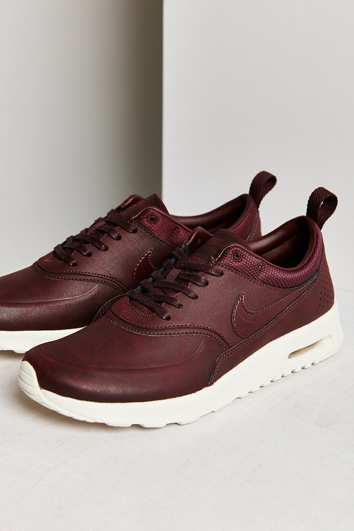 nike air max thea premium sneaker in brown lyst. Black Bedroom Furniture Sets. Home Design Ideas