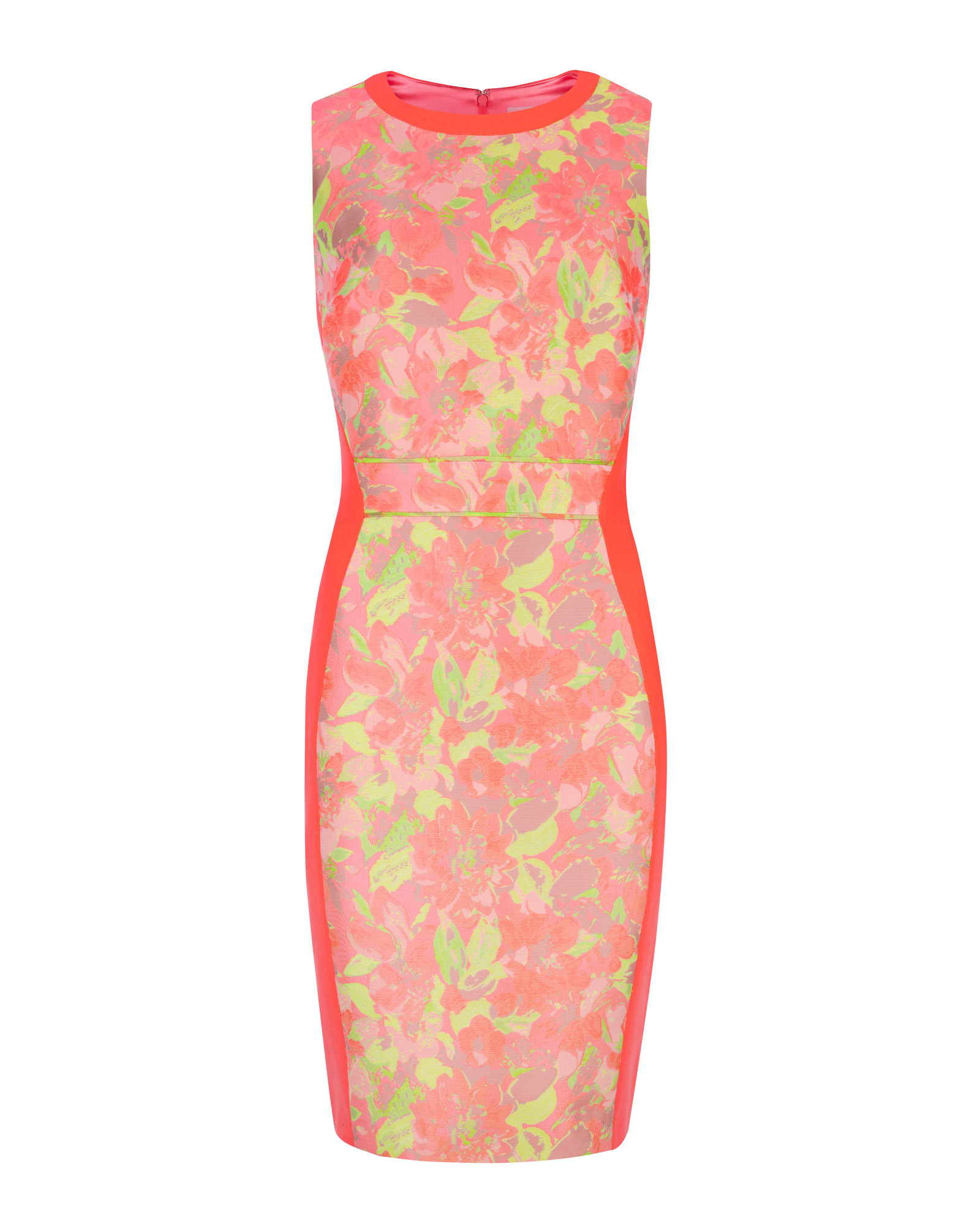 5f1a75ecb Lyst - Ted Baker Abenony Sleeveless Jacquard Dress in Pink
