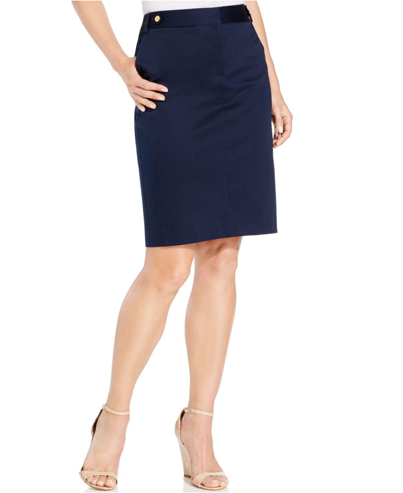 jones new york pencil skirt in blue lyst