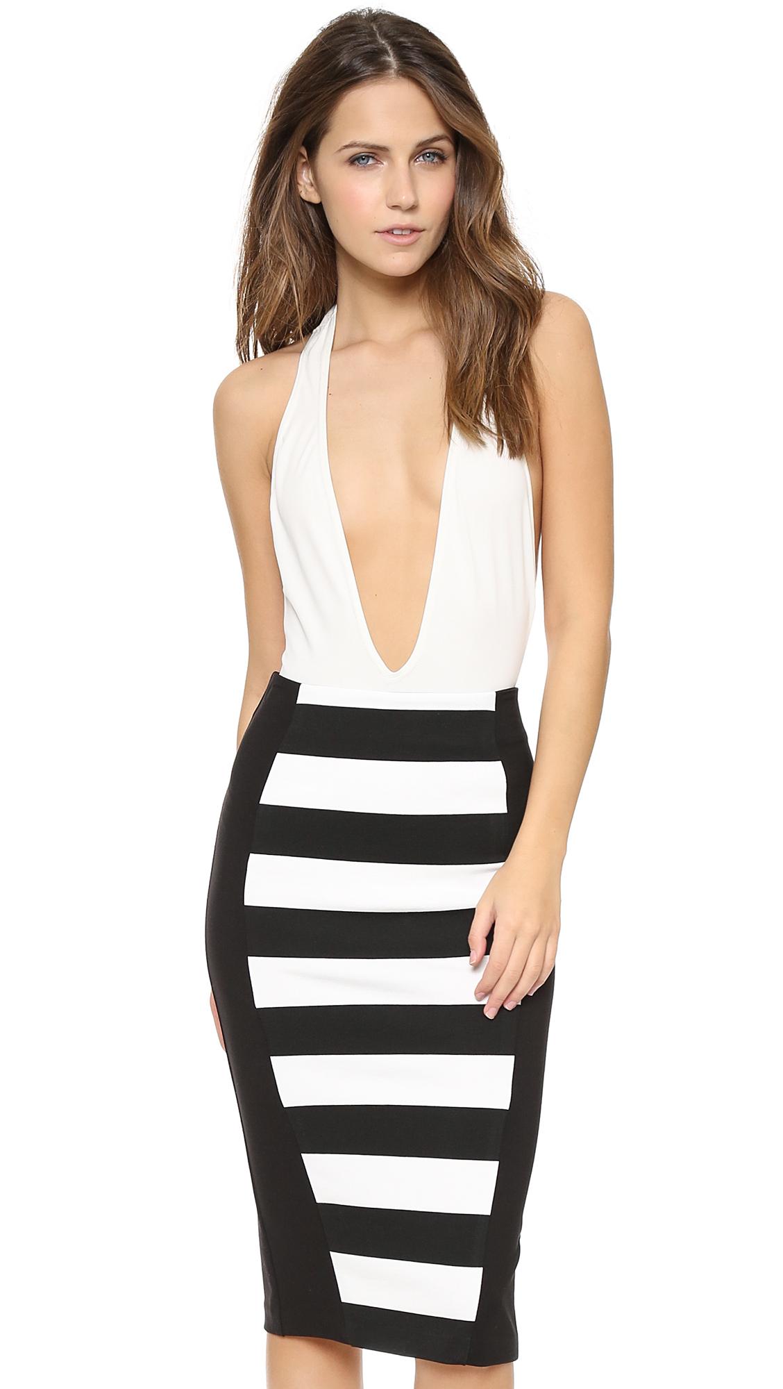 AQ/AQ Anna Body Suit in Black   REVOLVE   Beautiful skirts