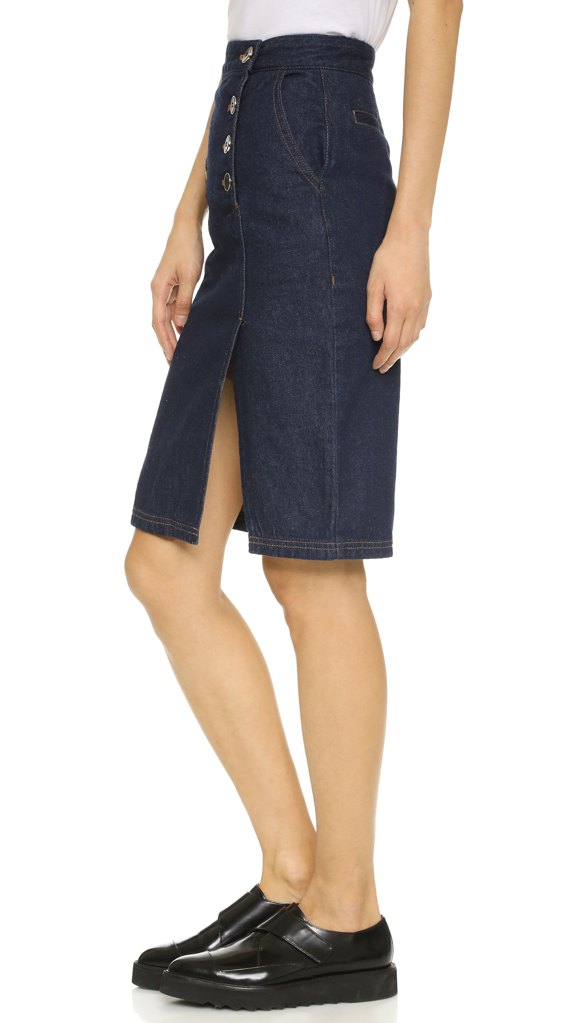 Two front and two back pockets with straight cut, fitted design. Small back slit ( inch slit in back of skirt) to allow for flexibility of movement. Internal adjustable waistband for sizing flexibility. Kosher Casual women's general sizing5/5(1).