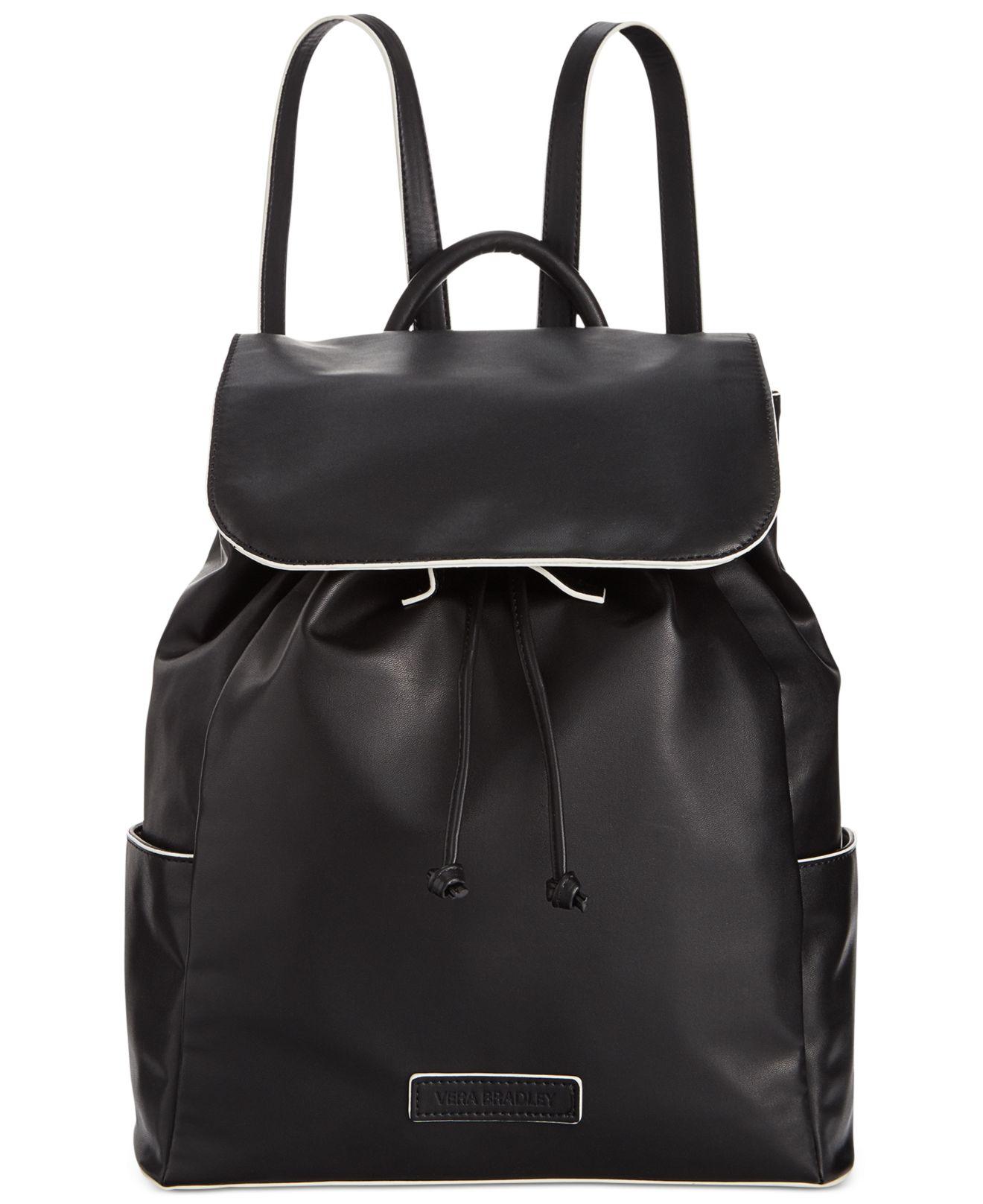 65063f8a12ee Lyst - Vera Bradley Drawstring Backpack in Black