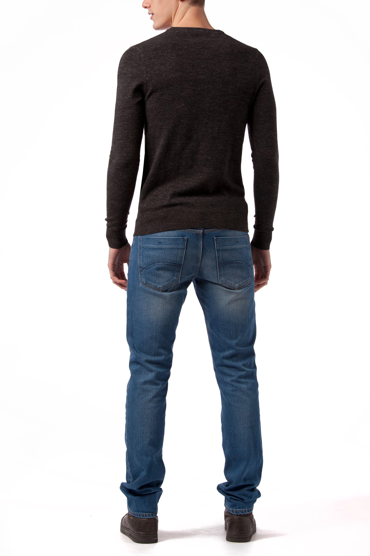 tommy hilfiger ethan plain crew neck pull over jumper in black for men lyst. Black Bedroom Furniture Sets. Home Design Ideas
