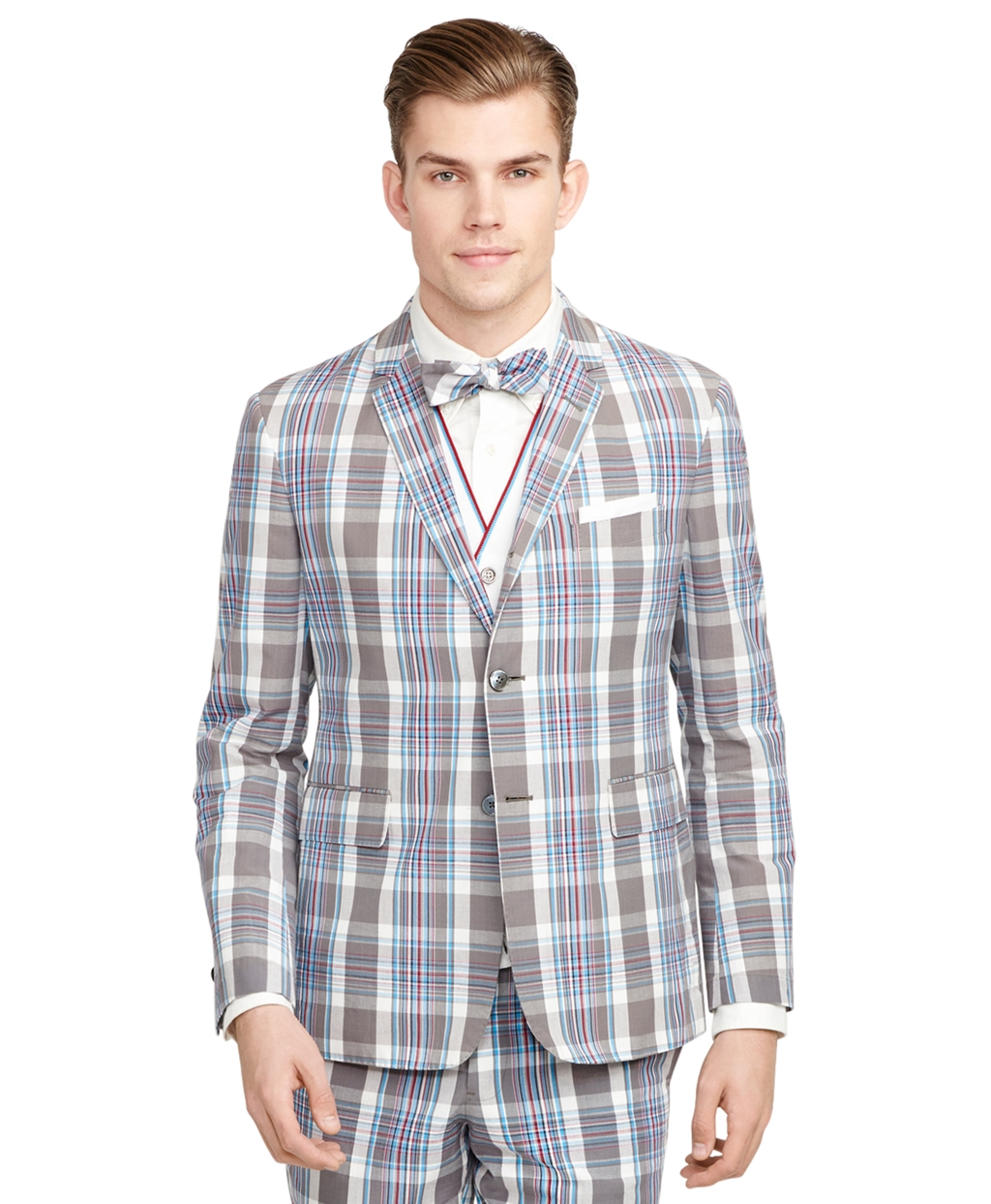 Lyst - Brooks Brothers Madras Sport Coat in Gray for Men