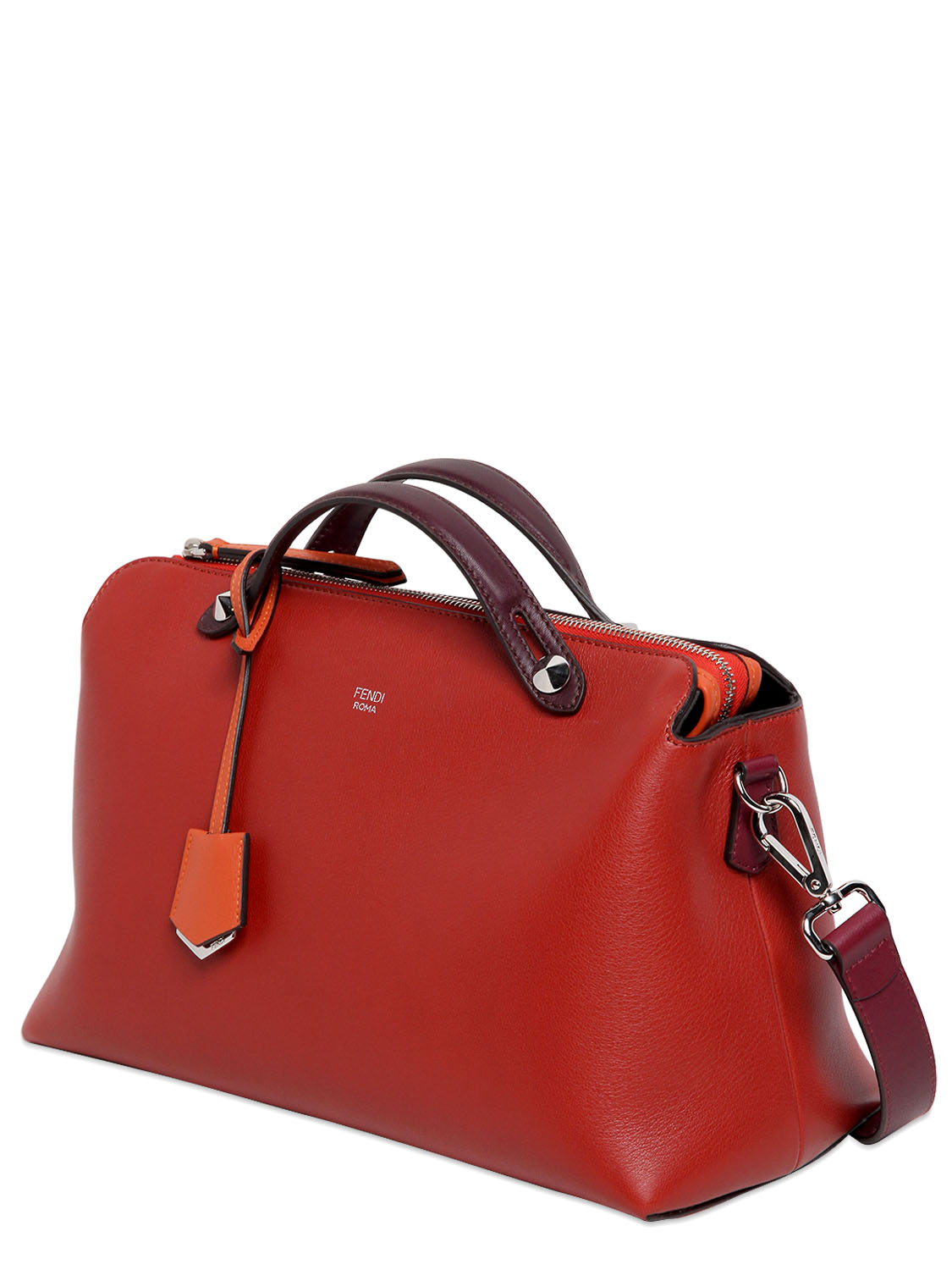 ae2af67b1347 Lyst - Fendi Large By The Way Leather Bag in Red