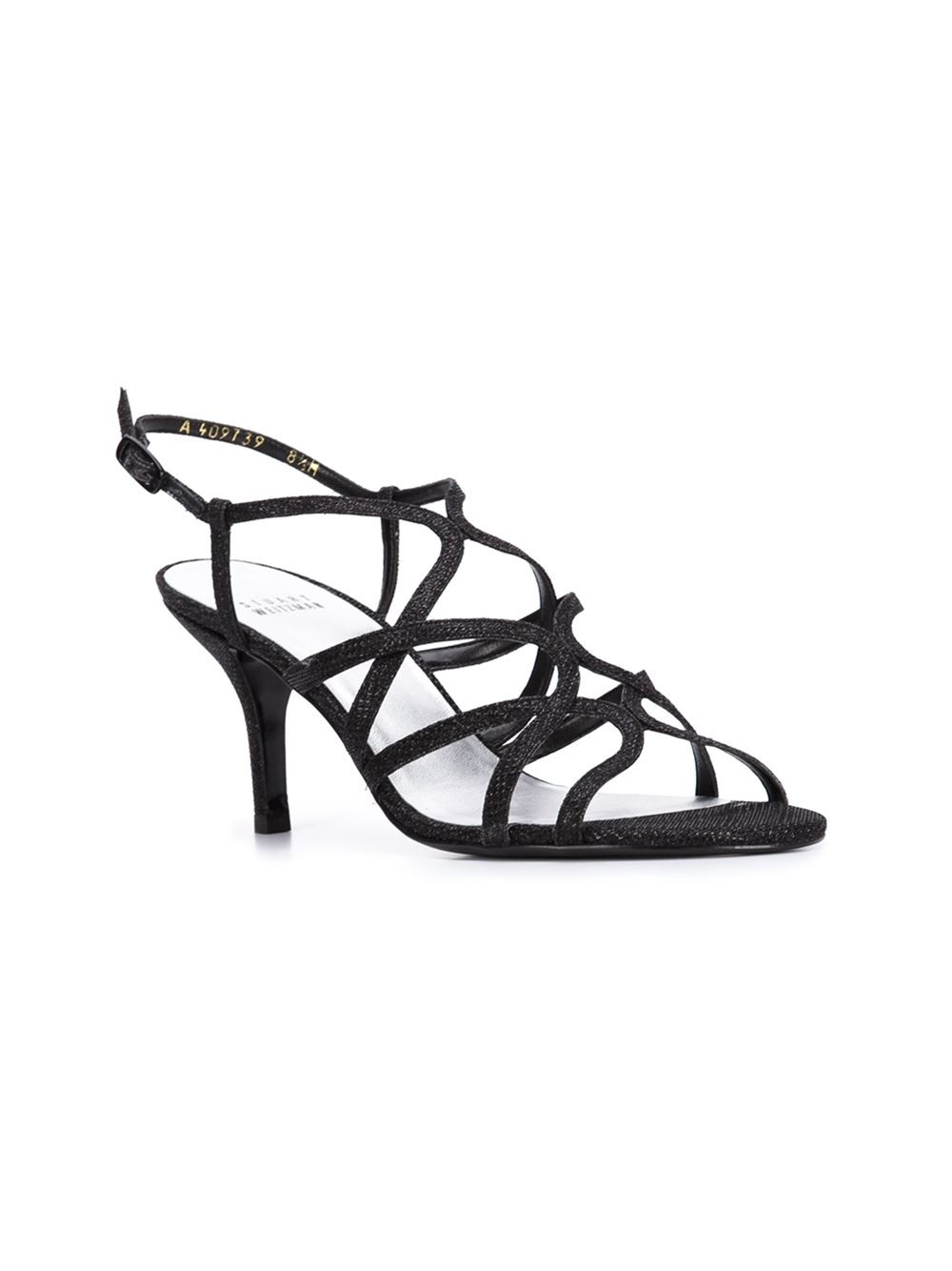 White Strappy Sandals Kitten Heel