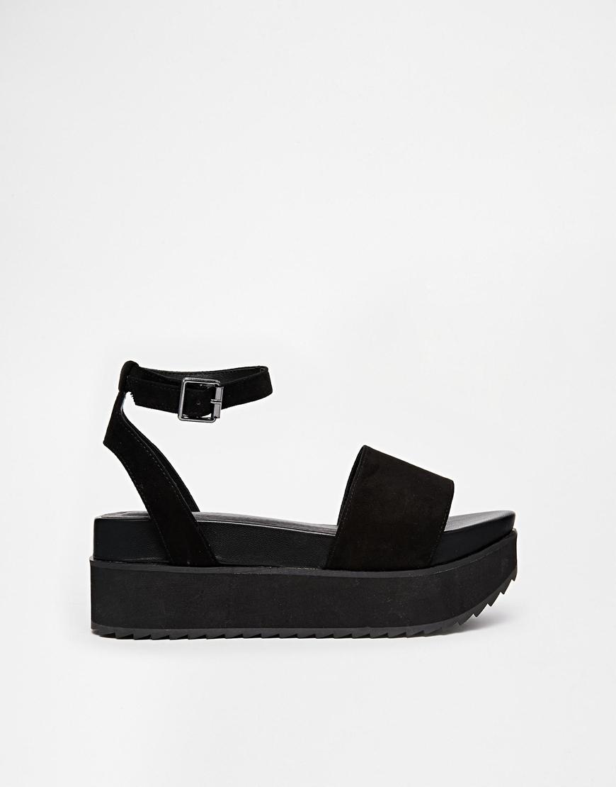 ASOS Hangtime Flatform Sandals in Black