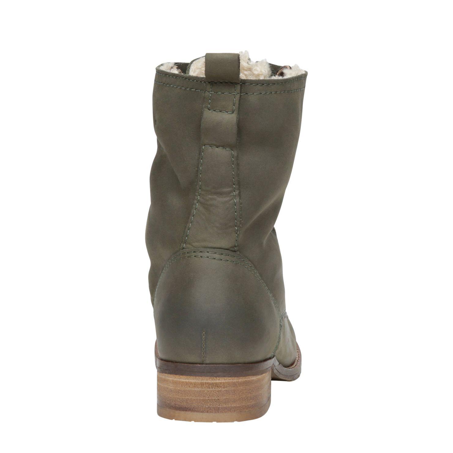 ALDO Fonterutoli Lace Up Military Boots in Green