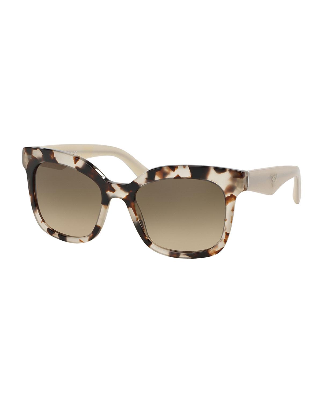 prada heritage square sunglasses in brown lyst. Black Bedroom Furniture Sets. Home Design Ideas