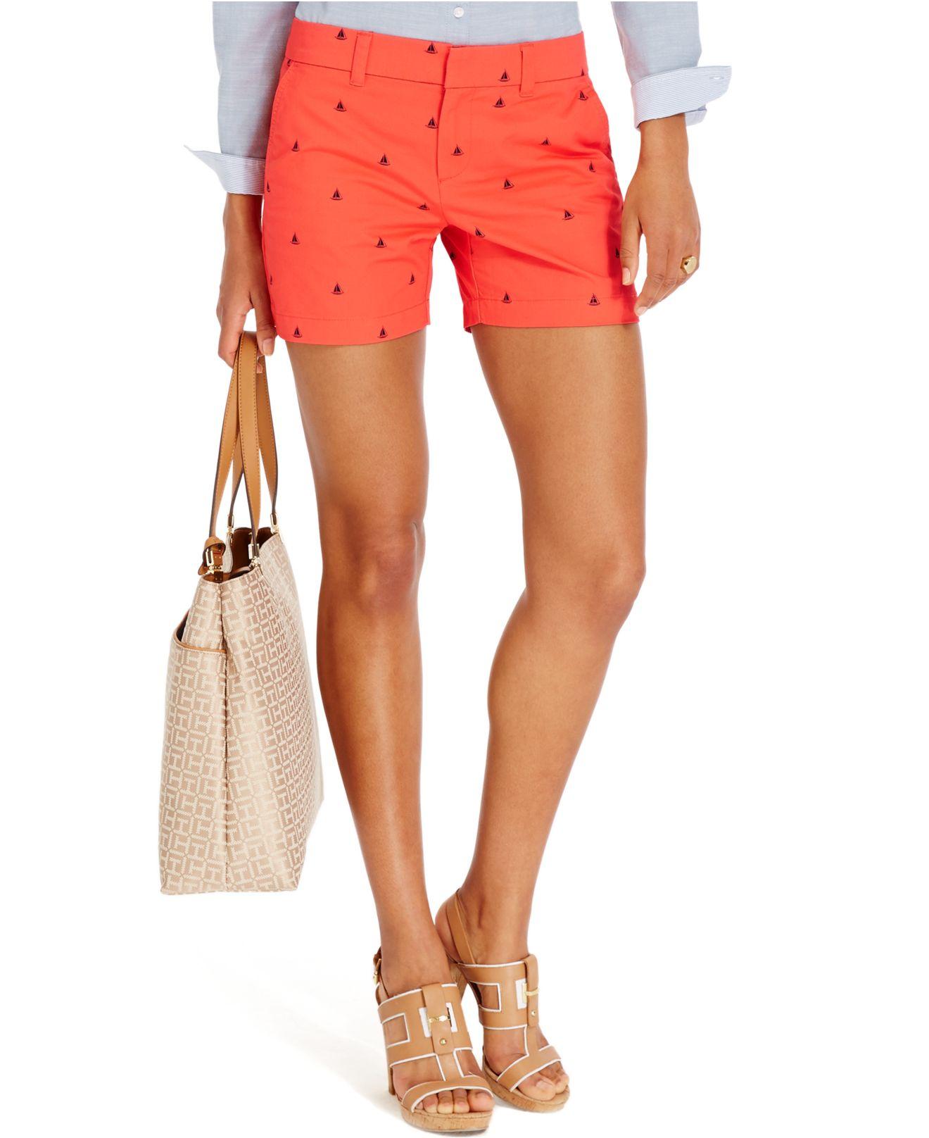 tommy hilfiger hollywood sailboat shorts in orange lyst. Black Bedroom Furniture Sets. Home Design Ideas